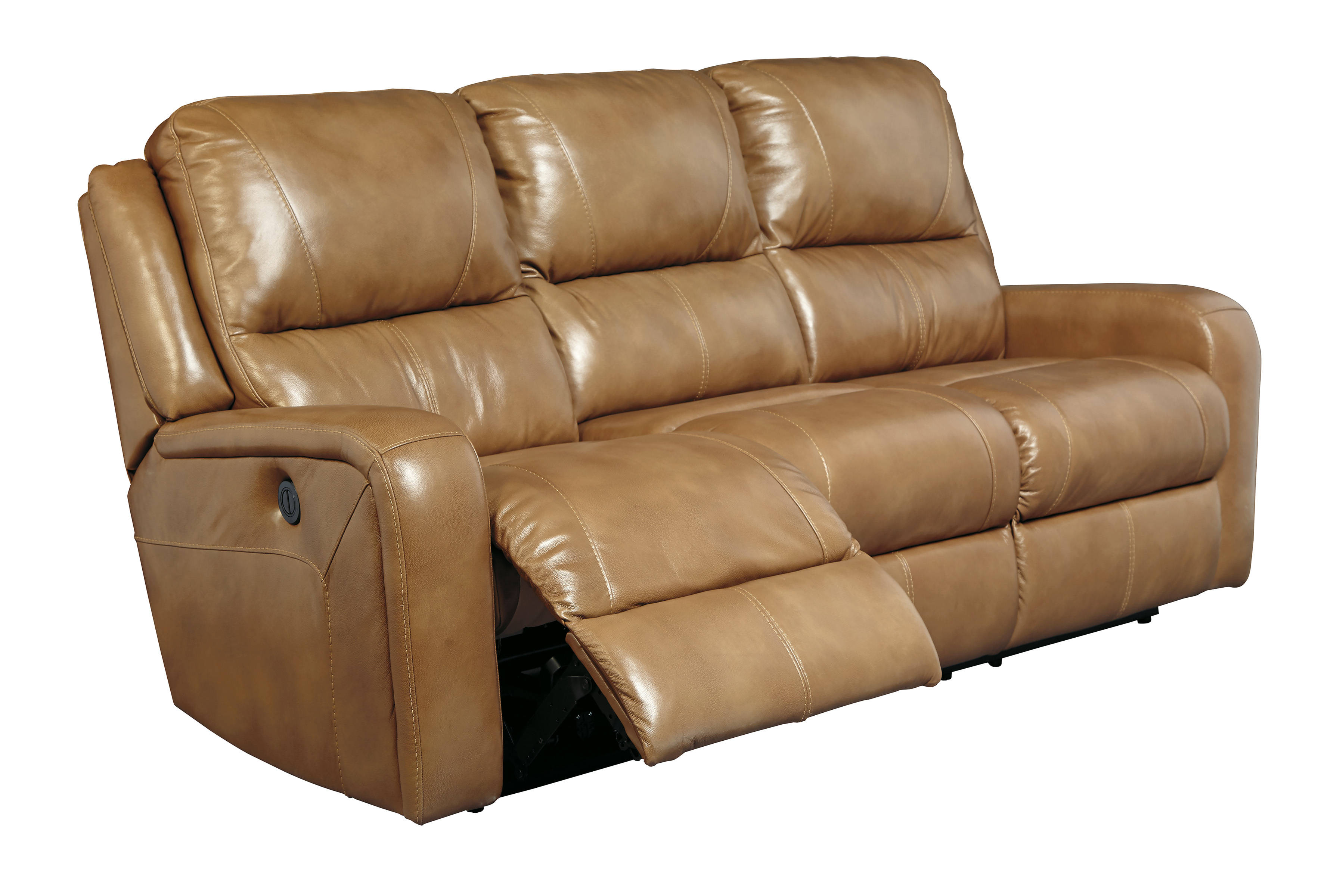 Roogan Contemporary Blondie Leather Reclining Power Sofa