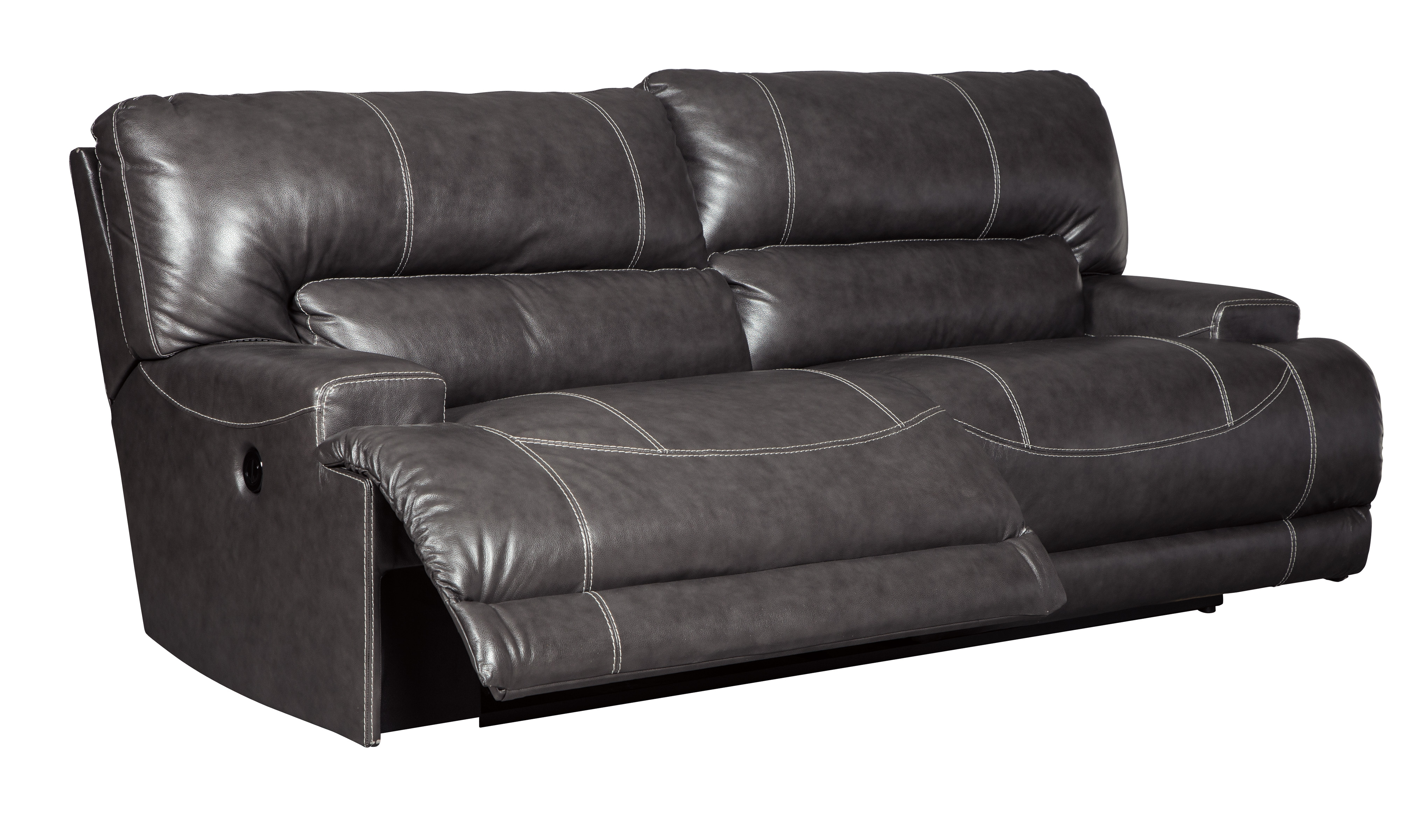 McCaskill Contemporary Gray Leather 2 Seat Reclining Sofa Click To Enlarge ...  sc 1 st  The Classy Home & McCaskill Contemporary Gray Leather 2 Seat Reclining Sofa | Living ... islam-shia.org
