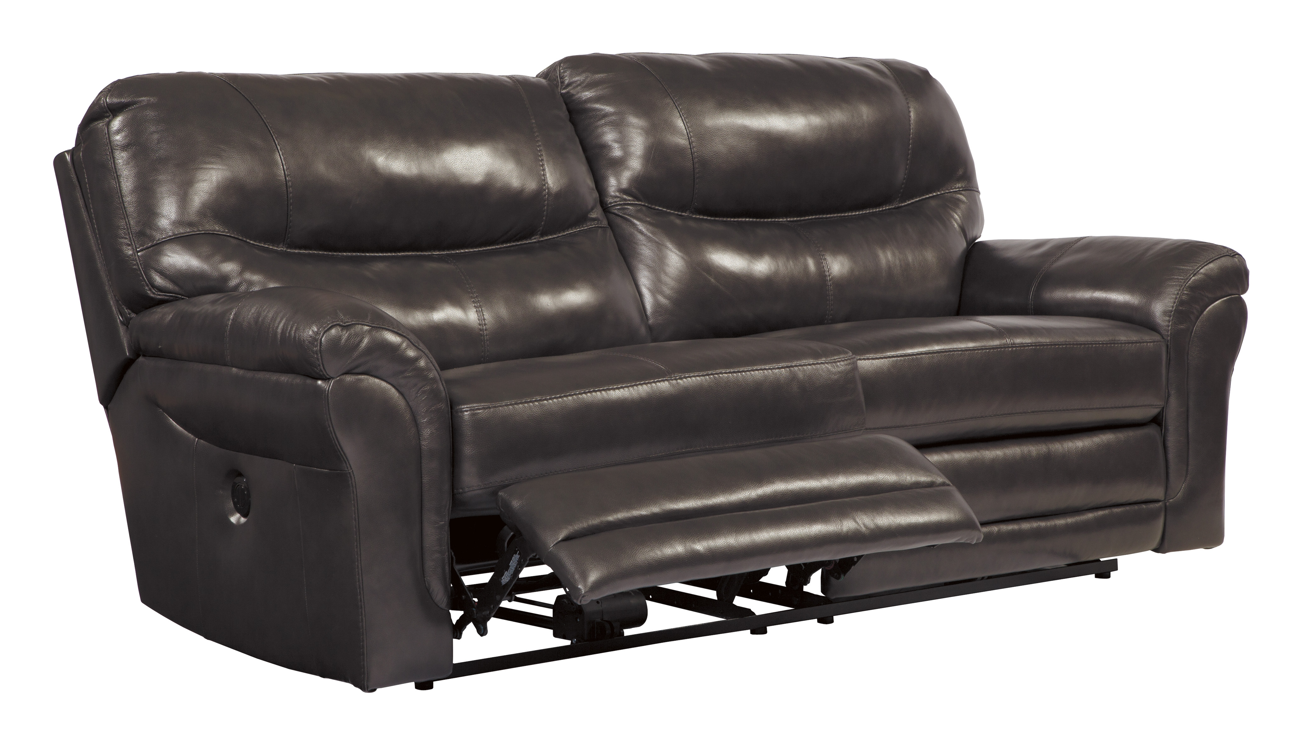 Banetonville transitional metal grain leather living room for Ashley encore grain chaise