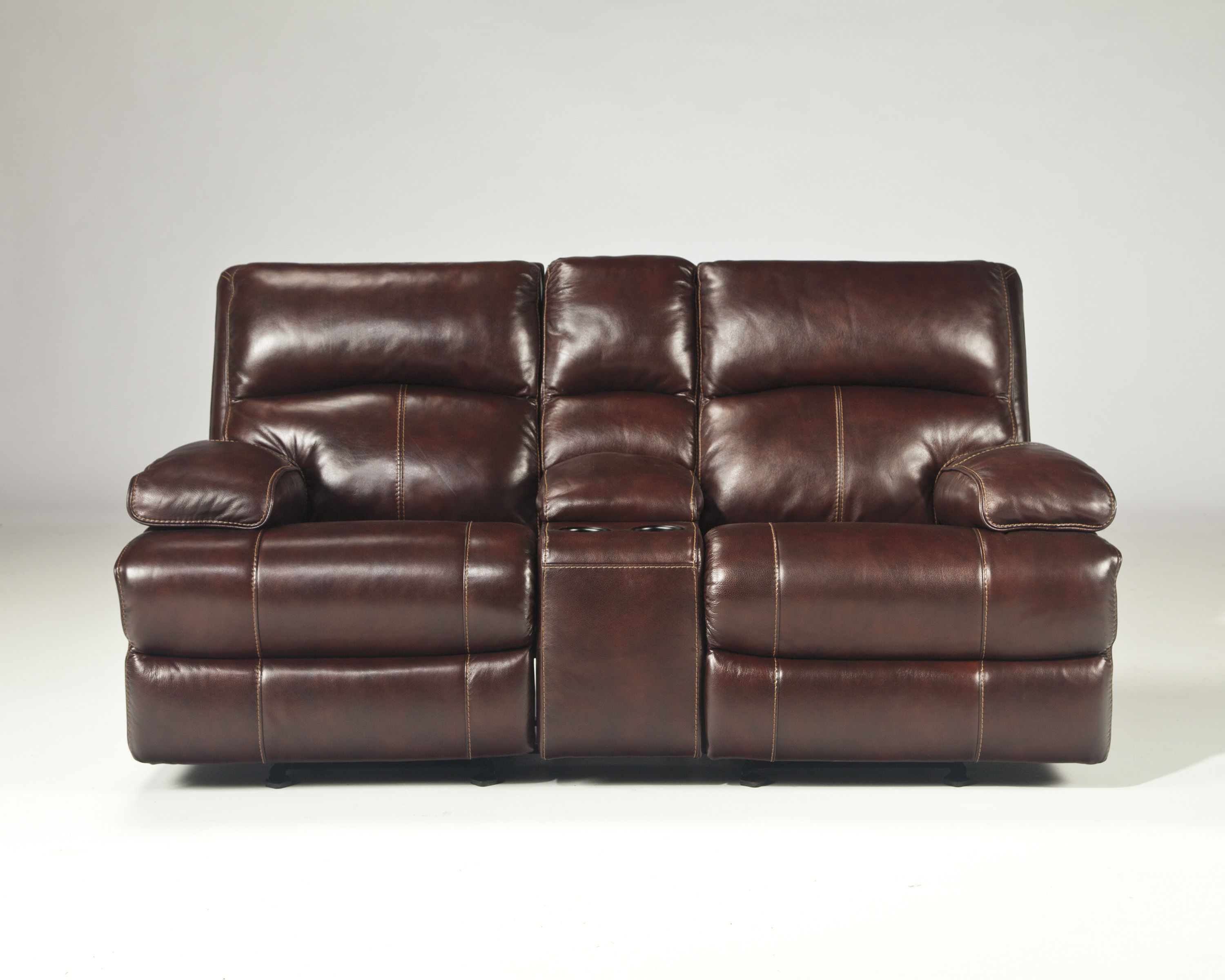 Fine Lensar Burgundy Leather Glider Recliner Loveseat W Console Pdpeps Interior Chair Design Pdpepsorg