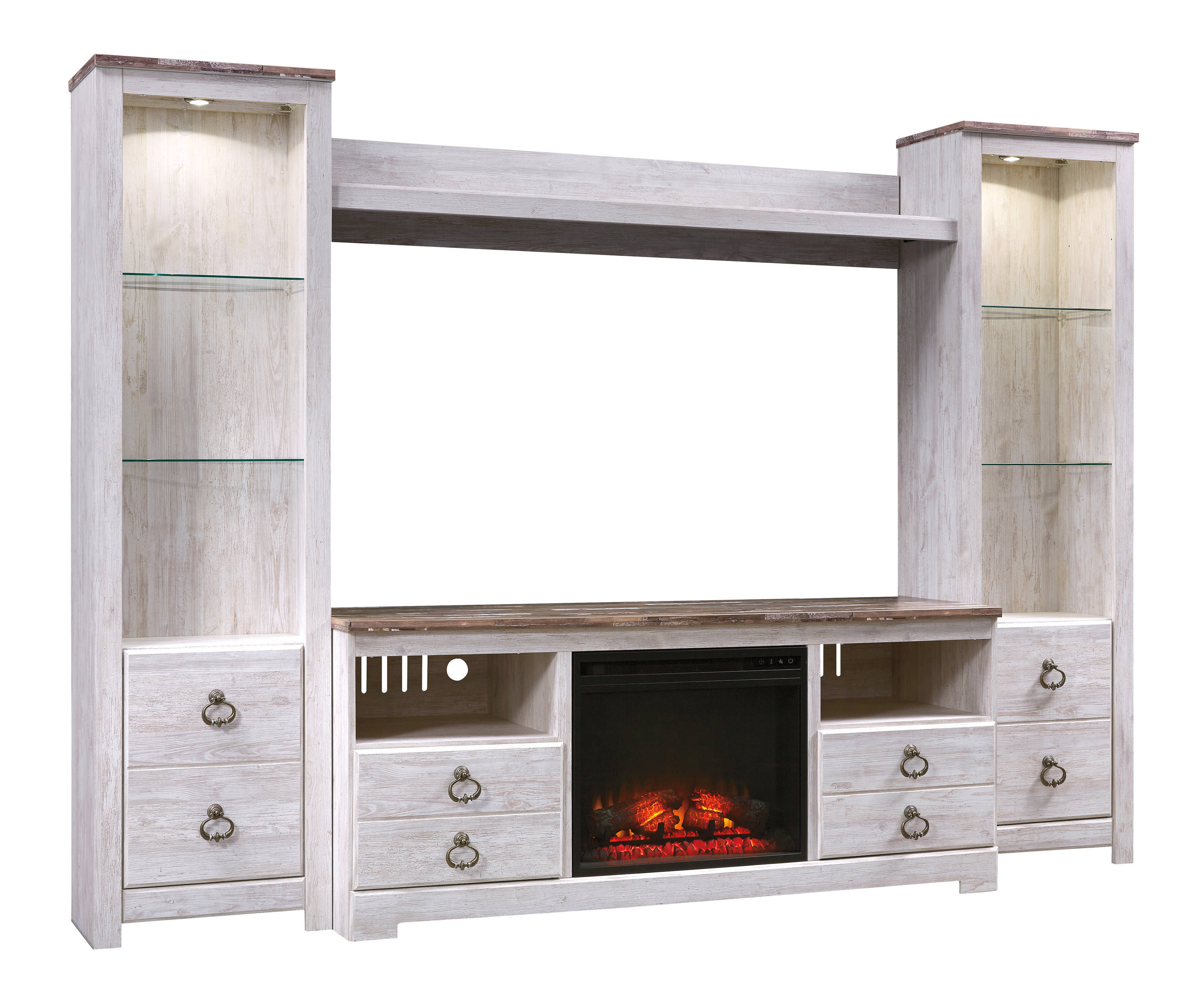 Ashley Furniture Willowton Entertainment Center With Fireplace Option Click To Enlarge