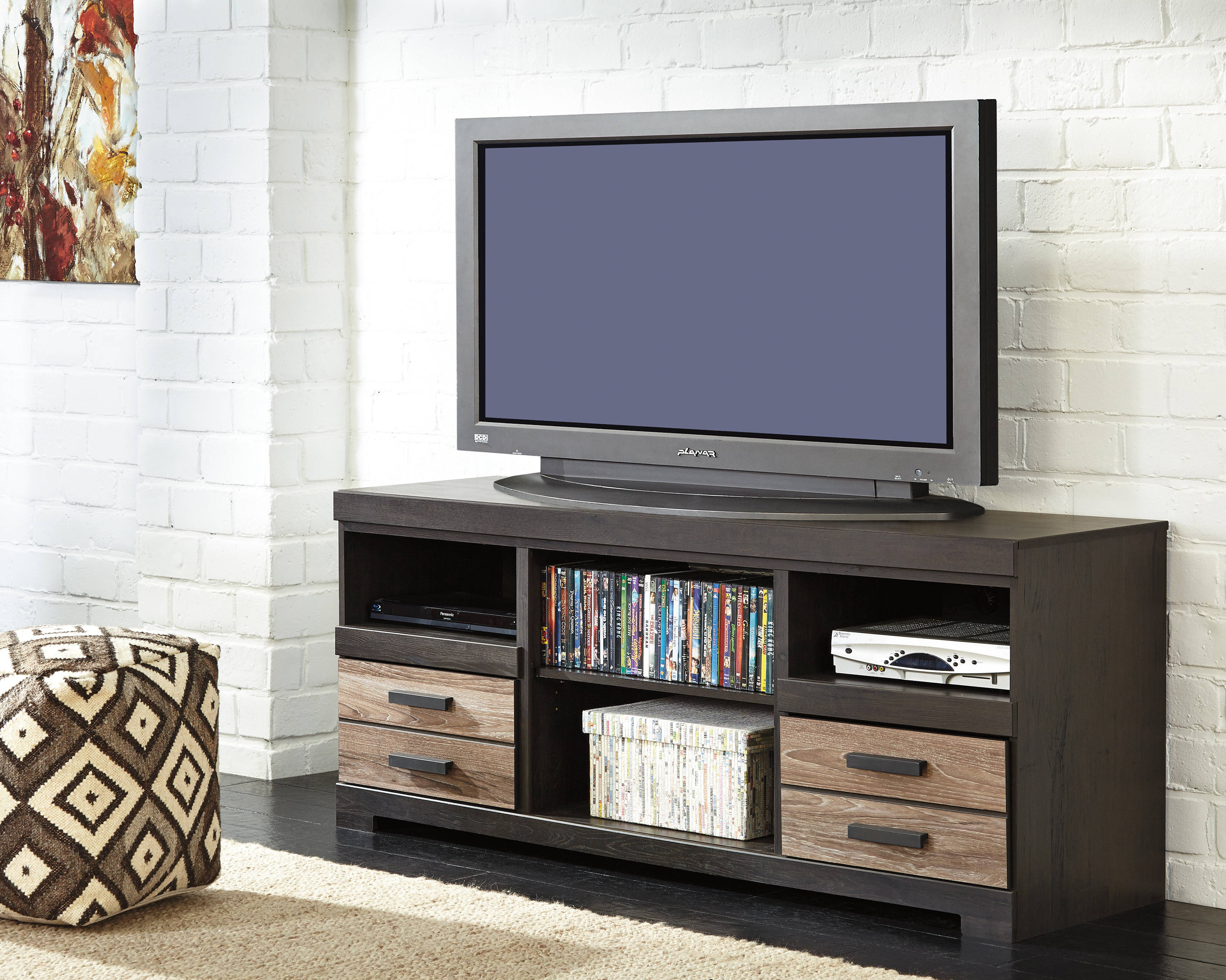 Ashley Furniture Harlinton Wood Lg Tv Stand With Fireplace The