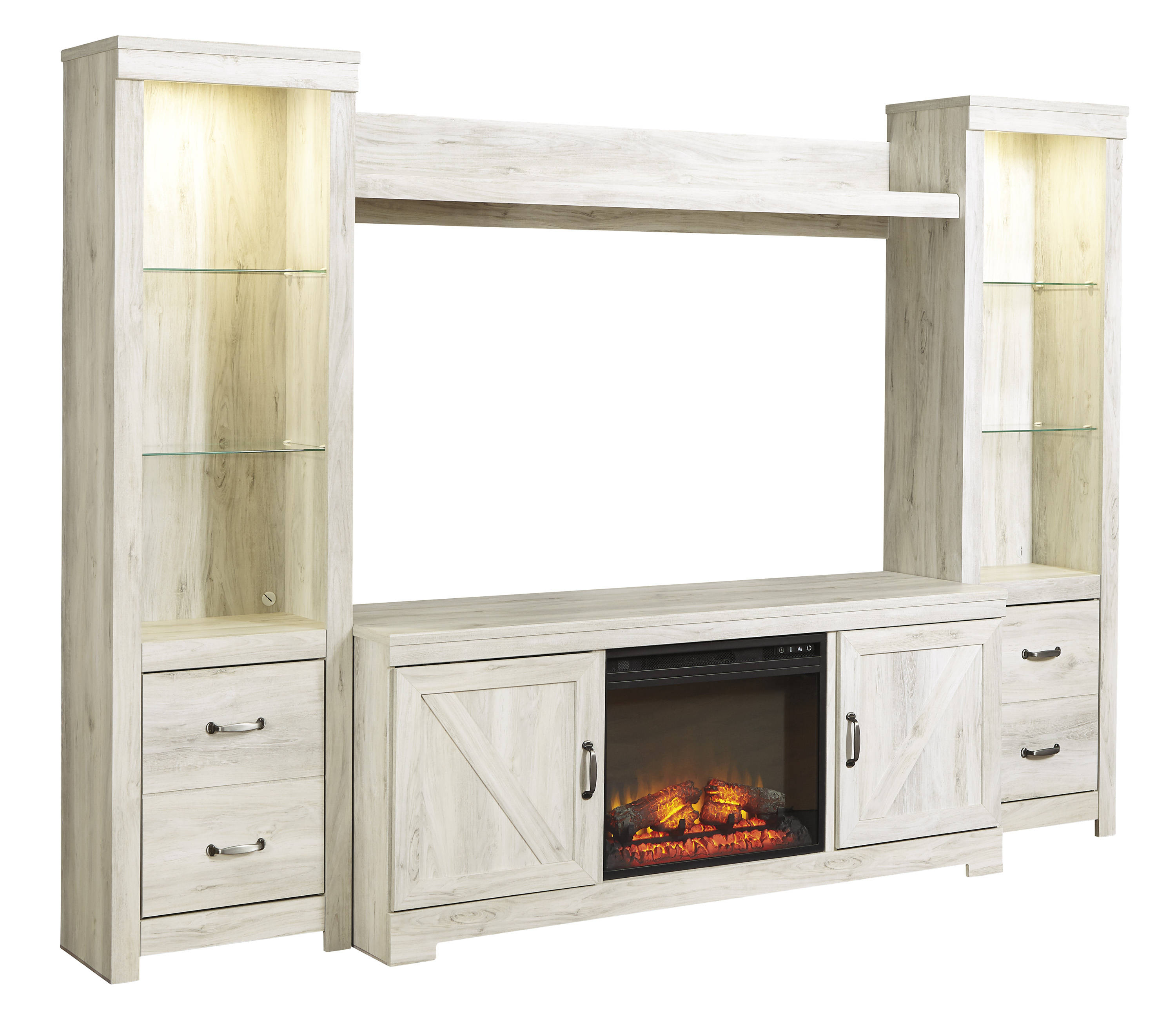 Ashley Furniture Bellaby White Entertainment Center With