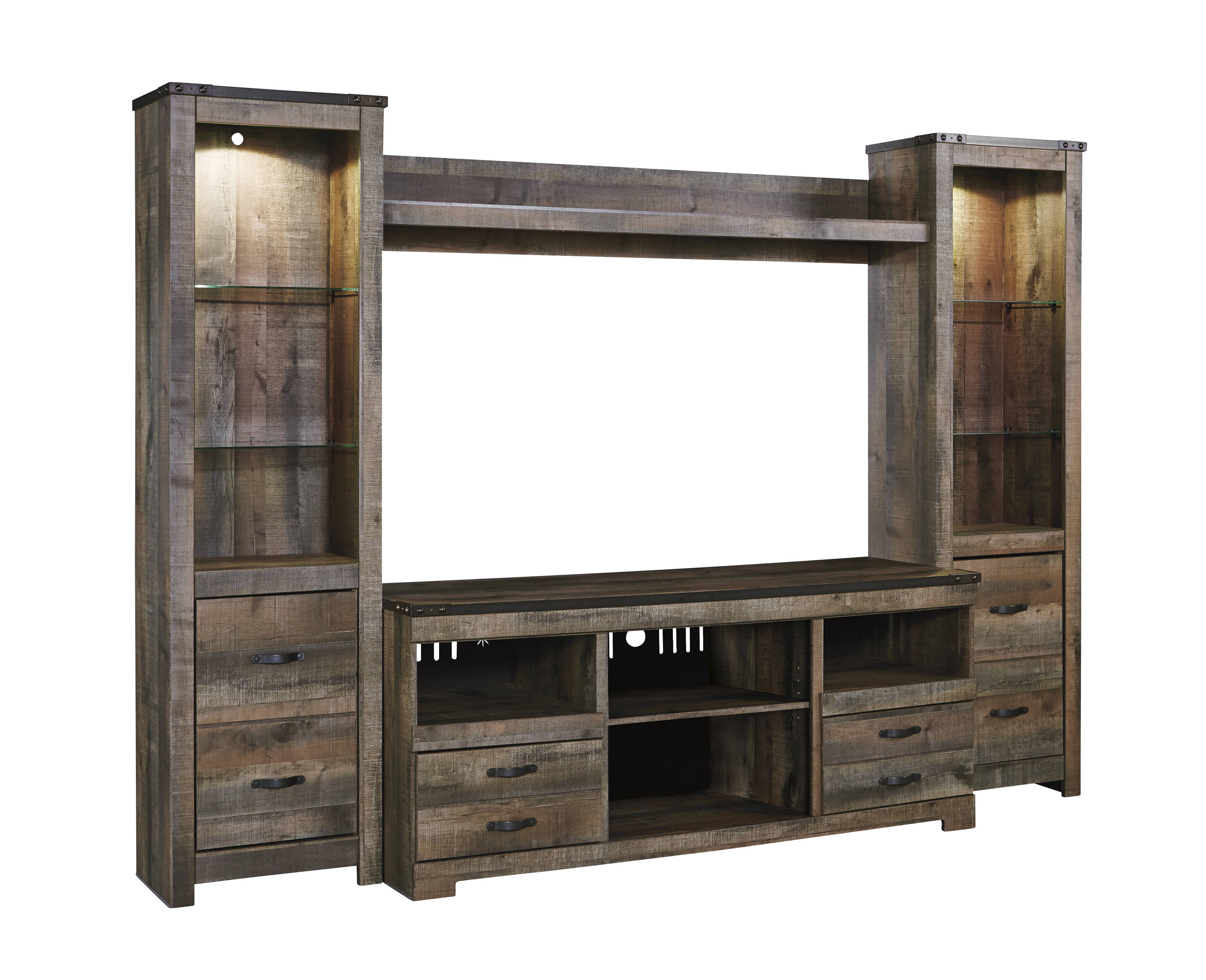 Ashley Furniture Trinell Brown Entertainment Center Wall Click To Enlarge