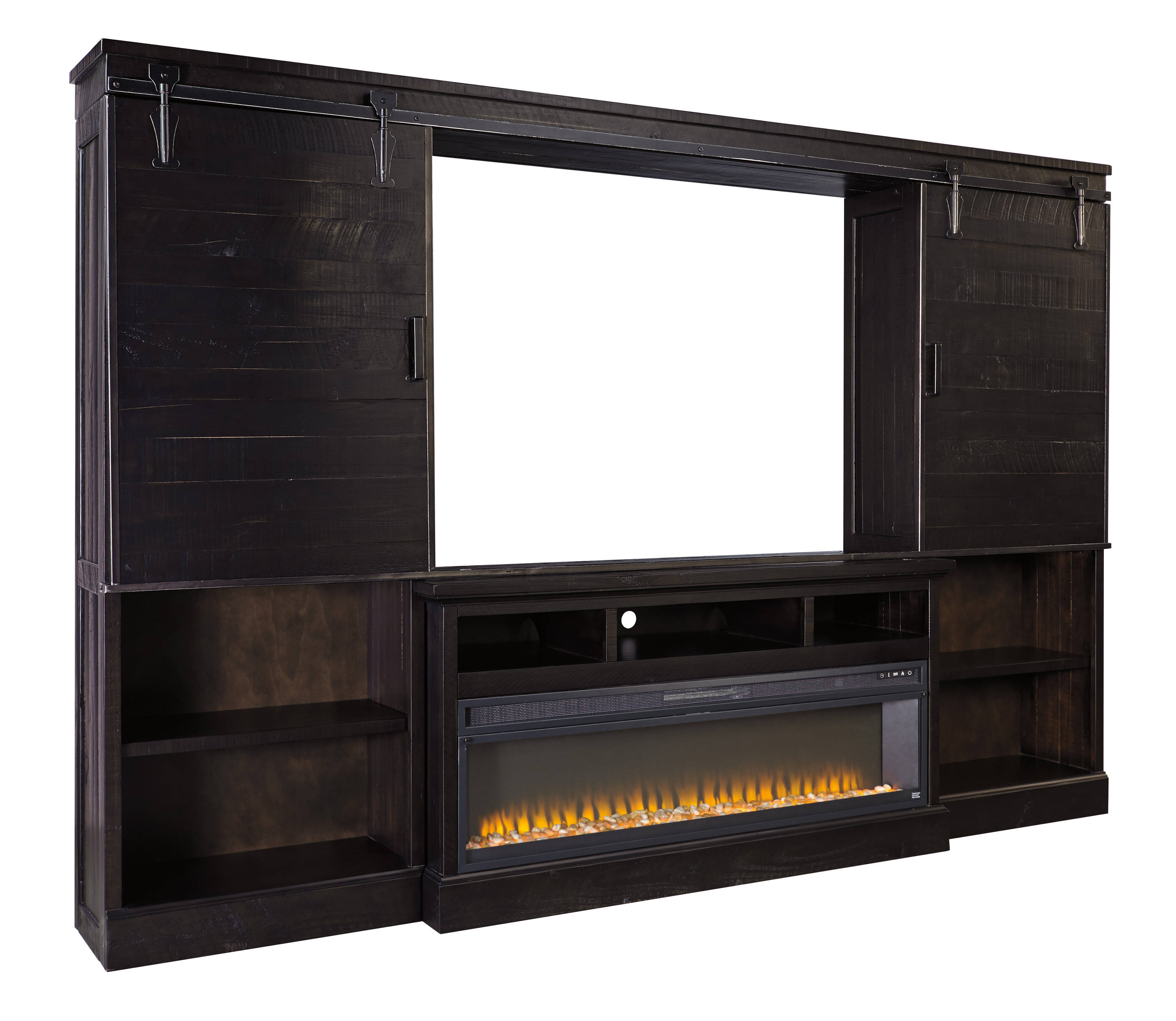 Ashley Furniture Sharlowe Entertainment Center With Fireplace Tv Stand Click To Enlarge