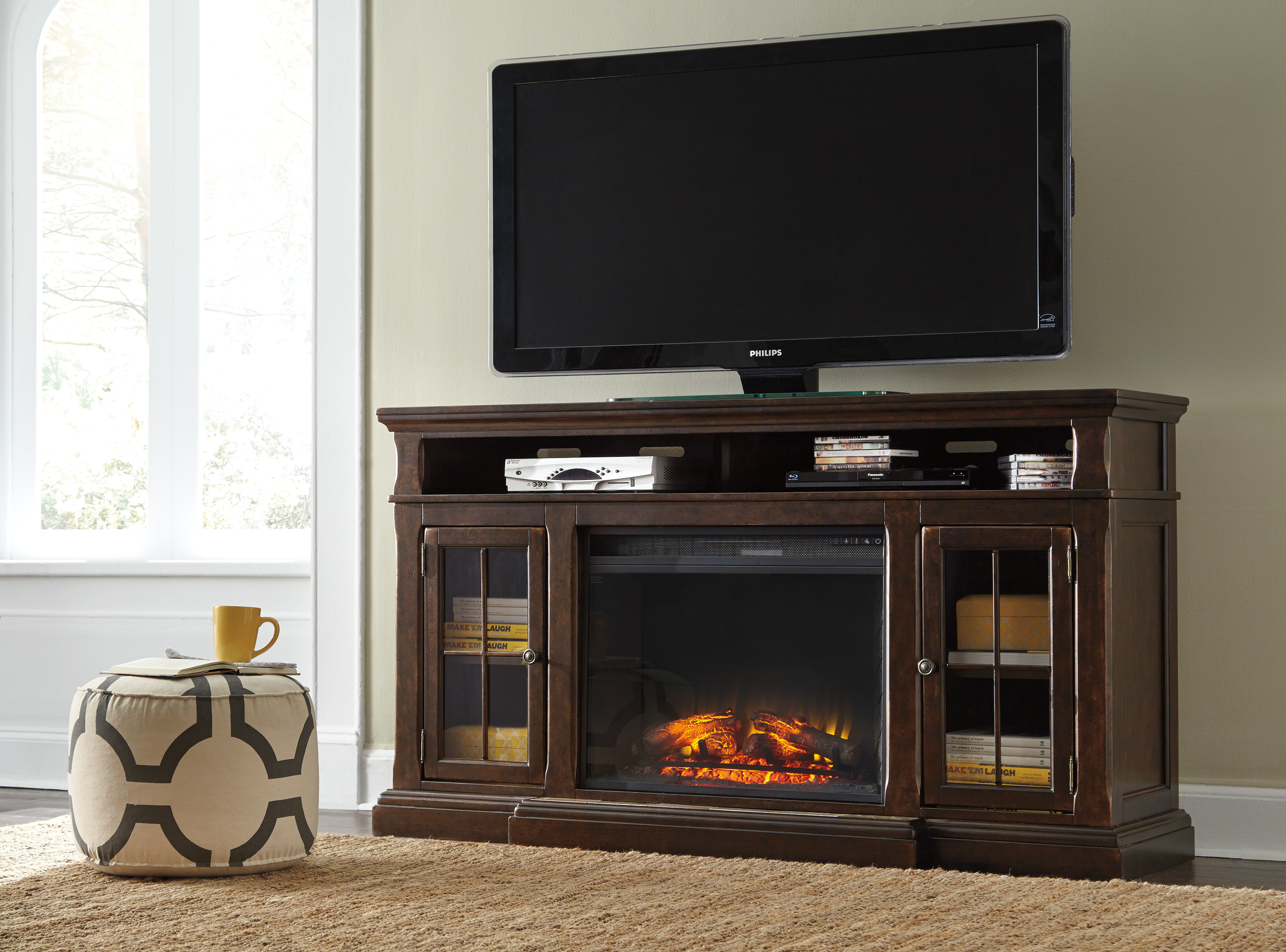 Ashley Furniture Entertainment Accessories Wood Tv Stand With