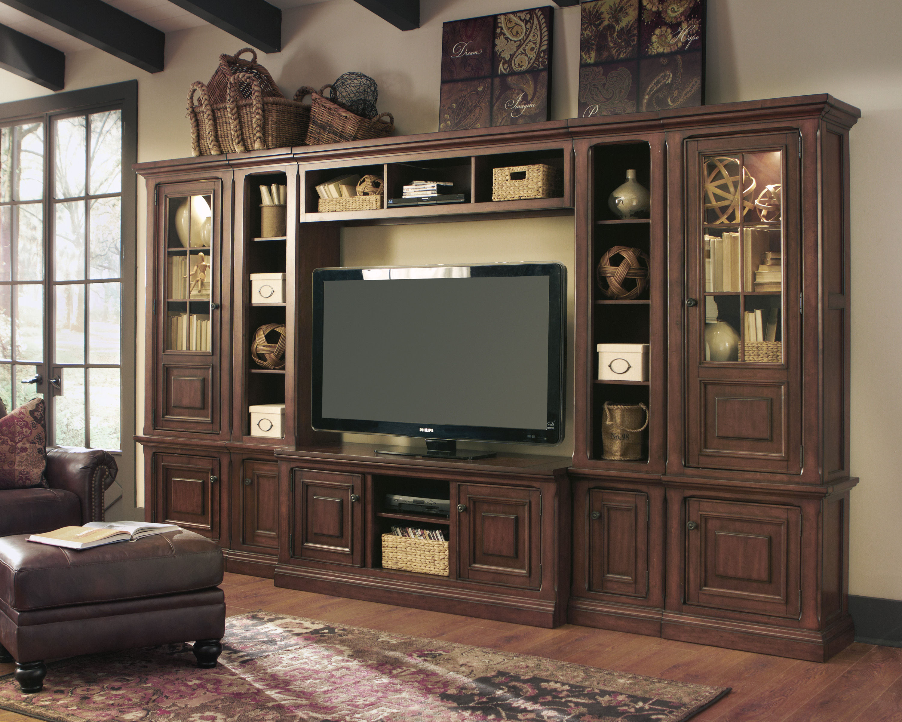 gaylon burnished brown wood entertainment center the classy home
