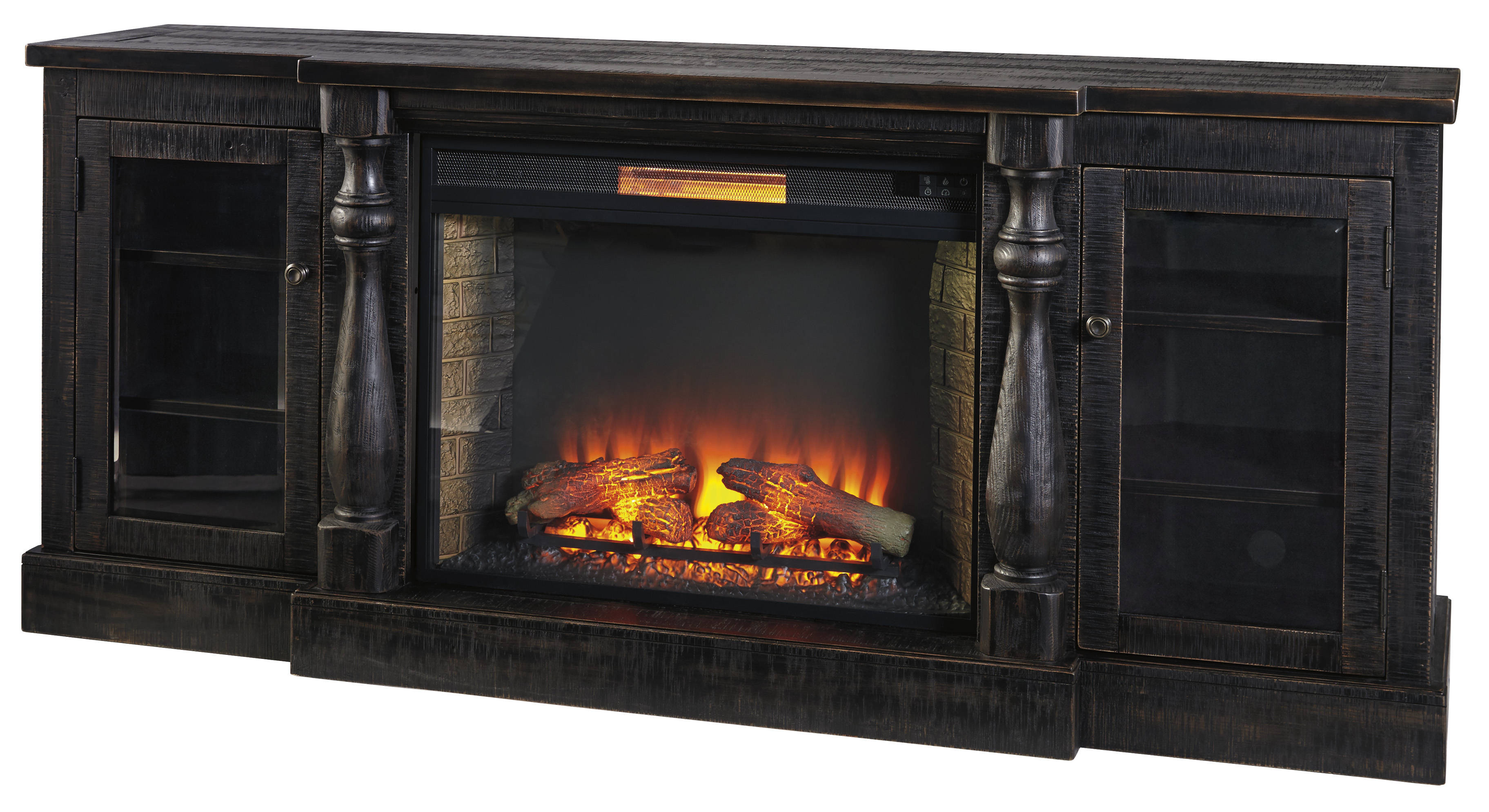 Ashley Furniture Mallacar Tv Stand With Fireplace The Classy Home