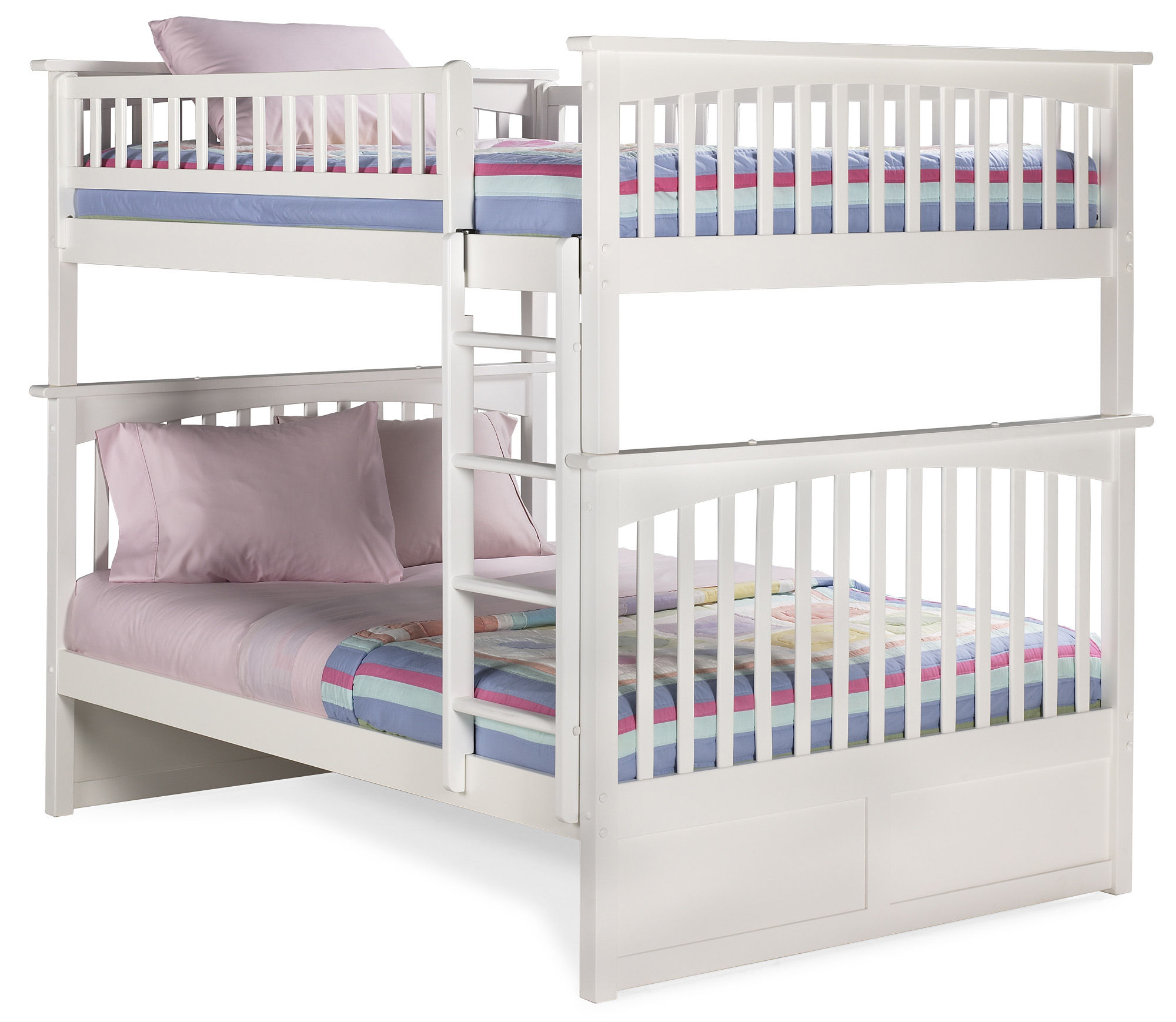 Atlantic Furniture Columbia White Full Over Bunk Bed