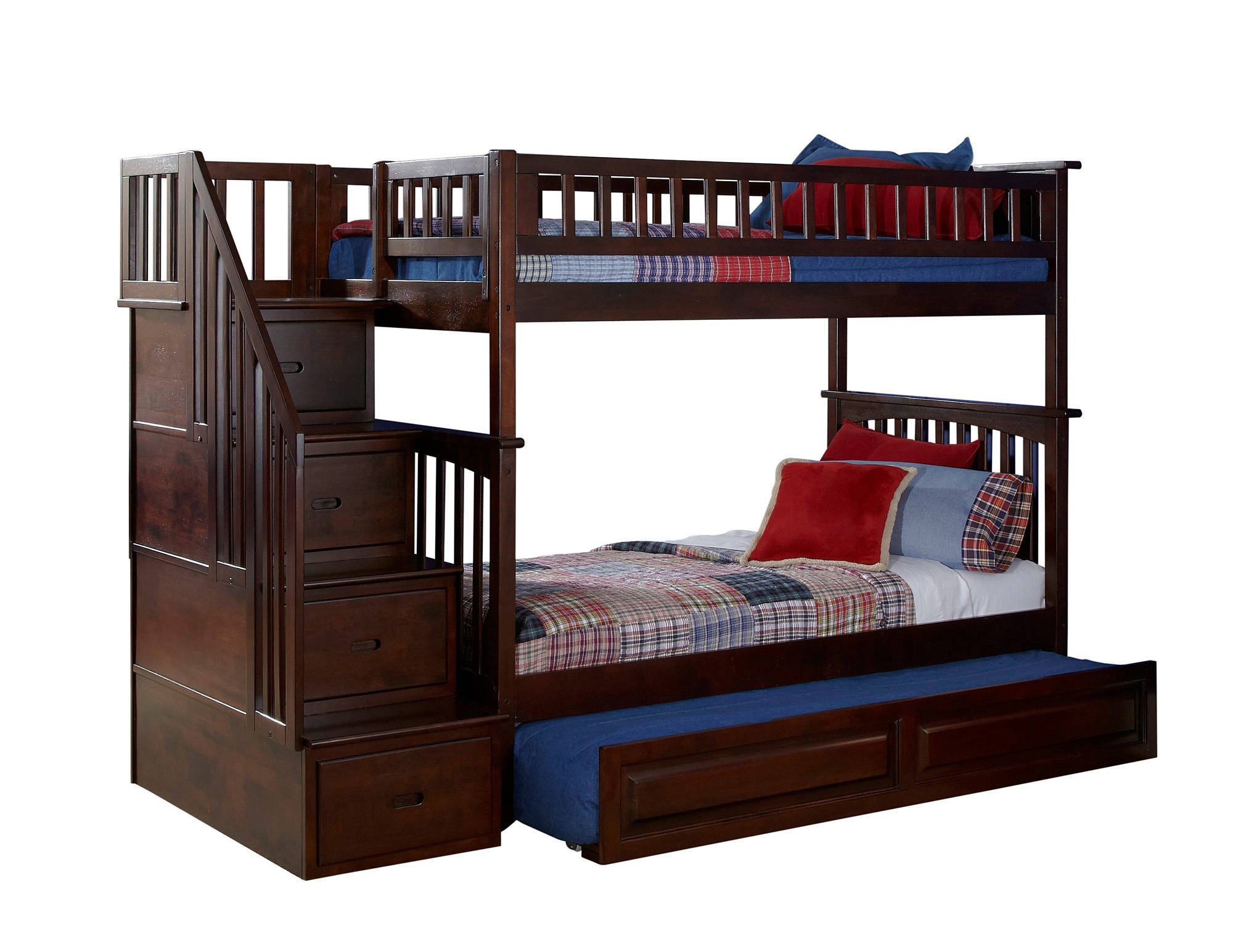loft bedroom sets atlantic furniture columbia walnut staircase 12150
