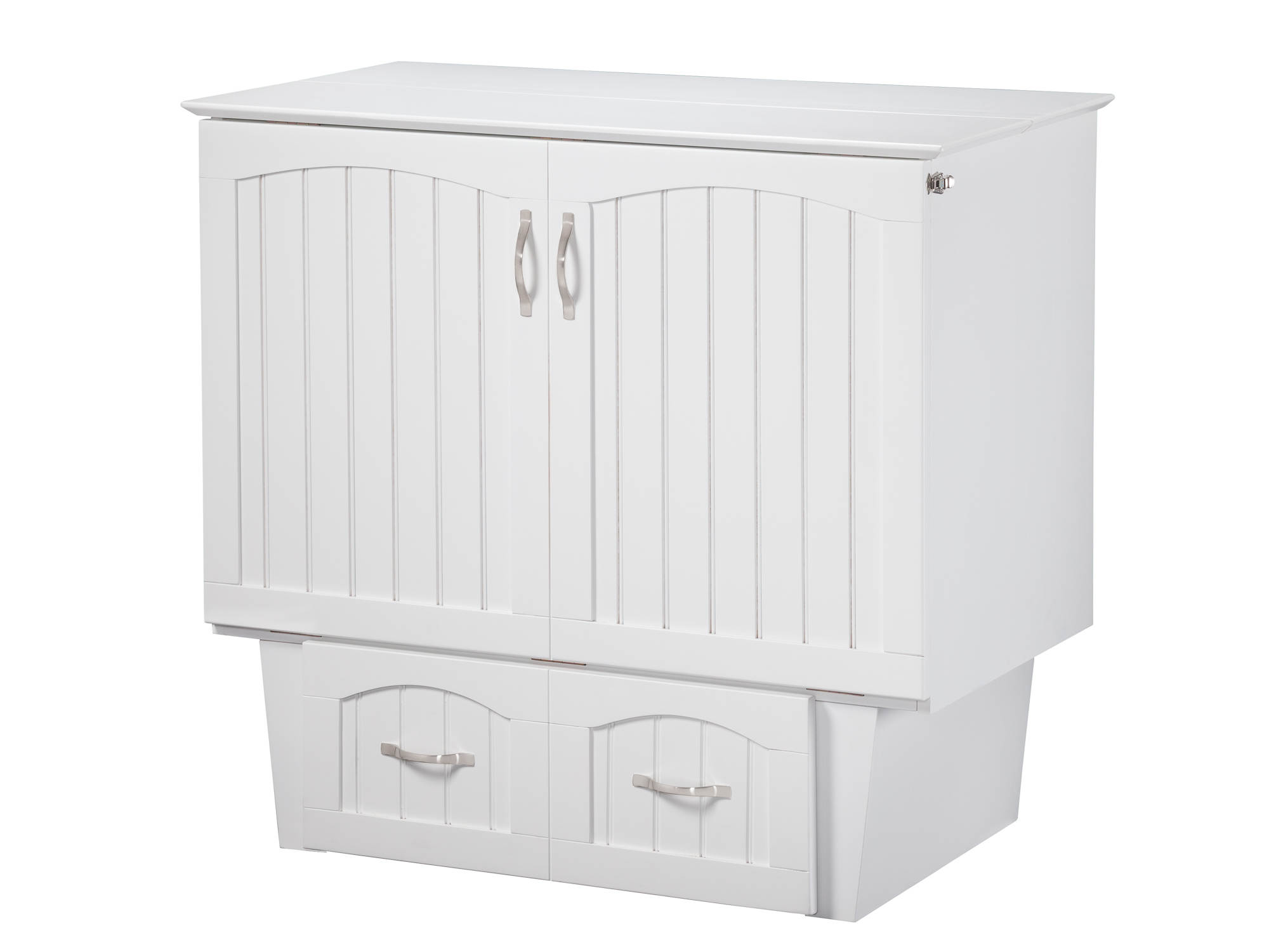 Atlantic Furniture Nantucket White Twin Murphy Chest Bed