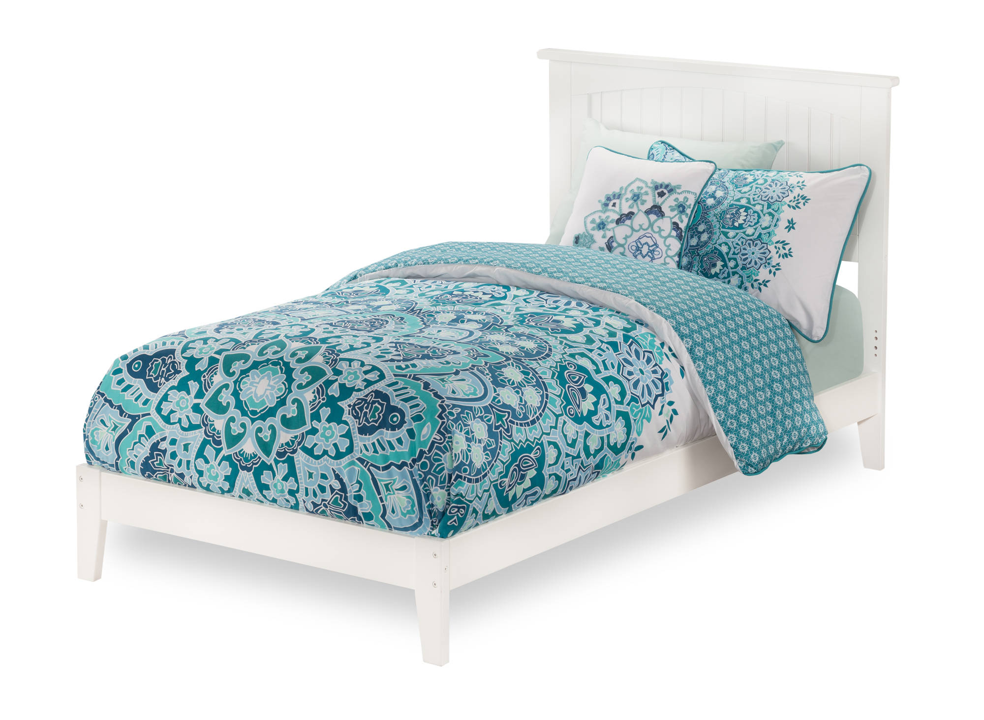 Atlantic Furniture Nantucket White Twin Xl Open Foot Bed The Classy Home