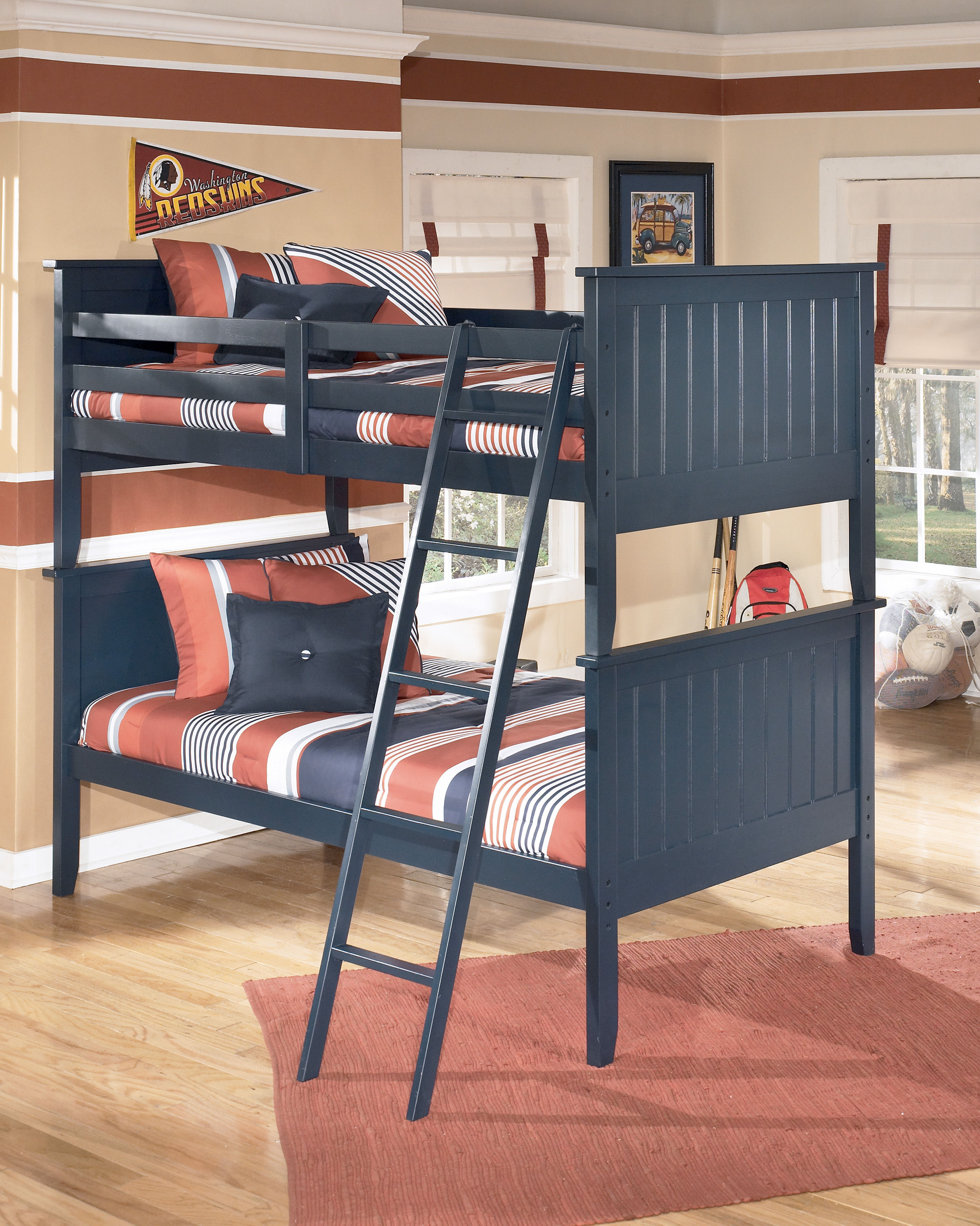 Ashley Furniture Leo Blue Bunk Bed The Classy Home