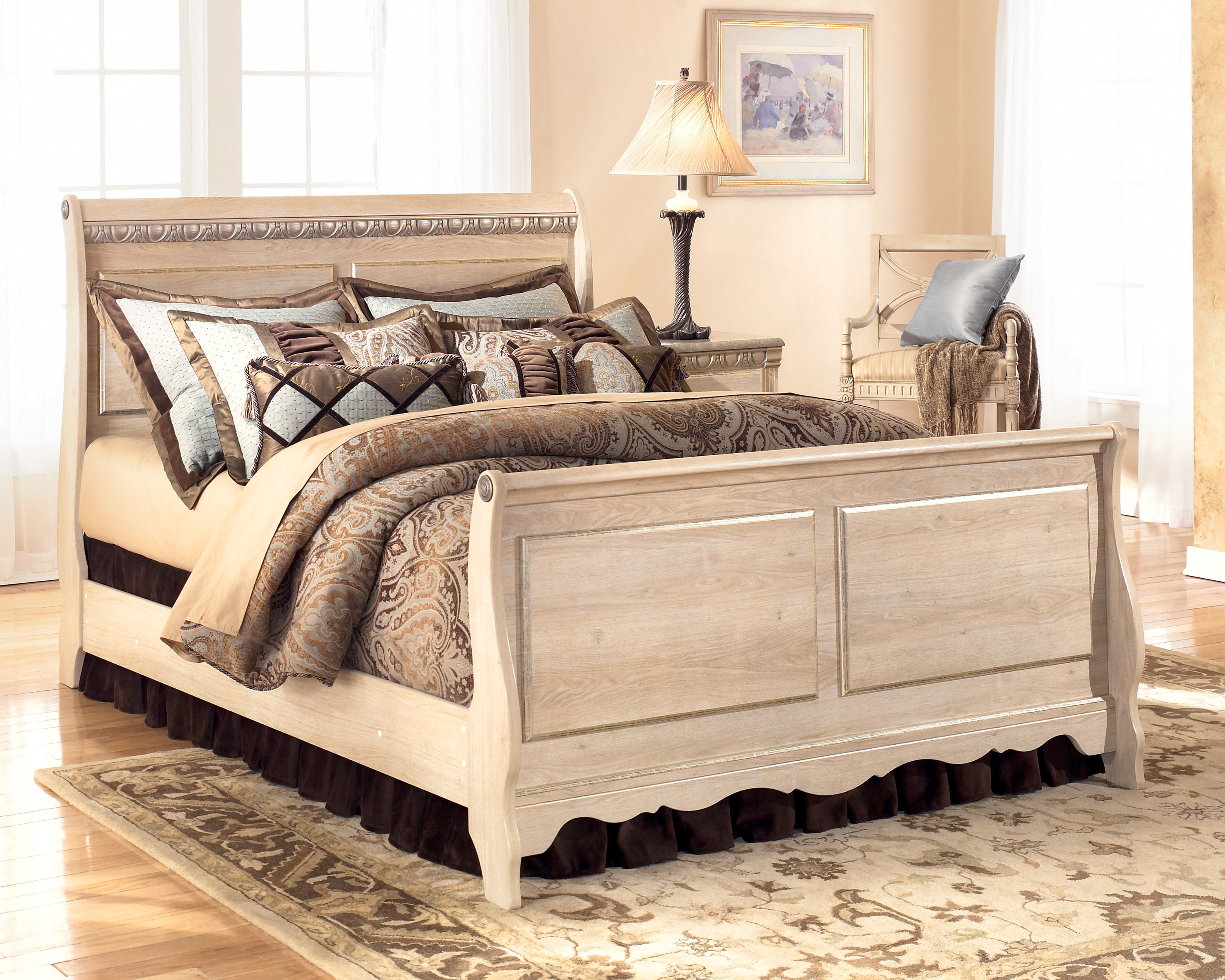 Silverglade Queen Sleigh Bed The Classy Home