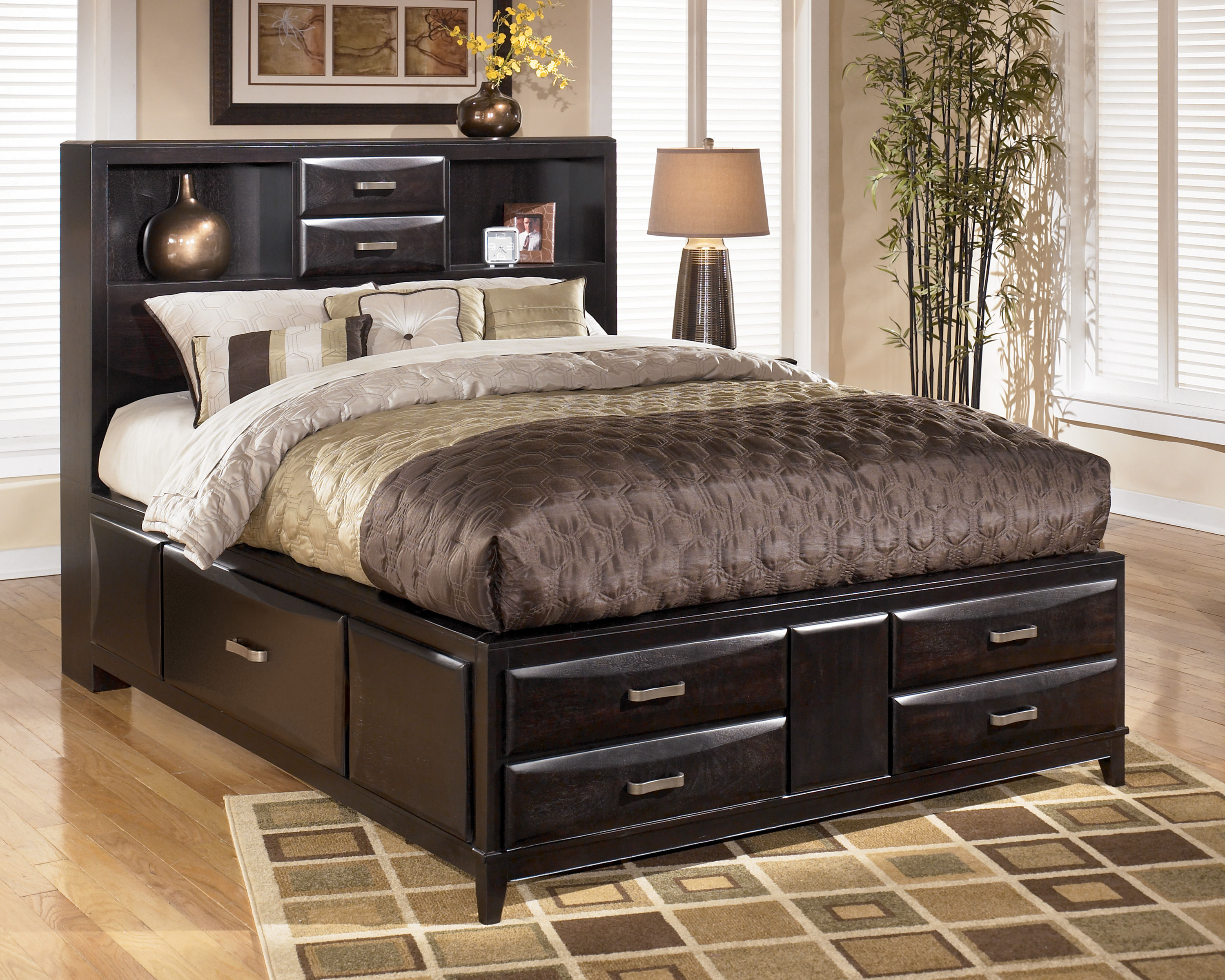 Ashley Furniture Kira Queen Storage Bed The Classy Home