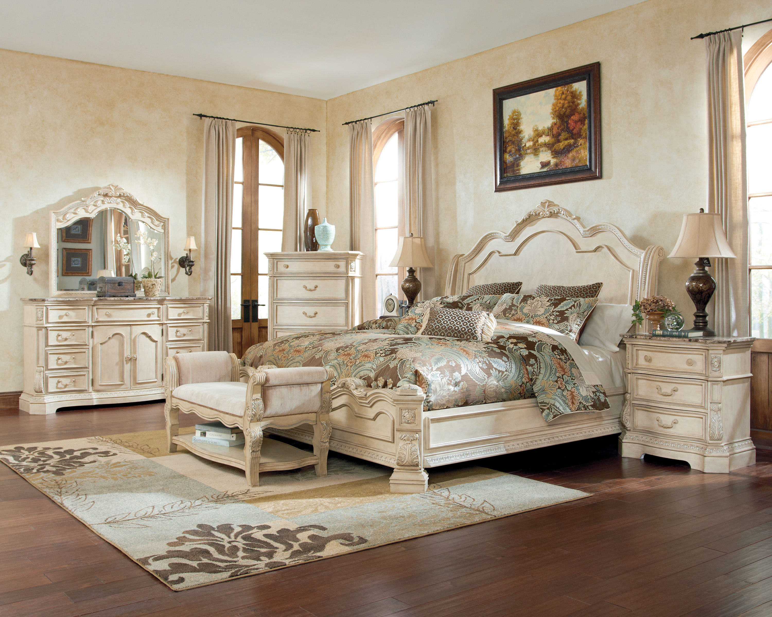 ortanique 5 pc bedroom set w king sleigh bed   the classy home