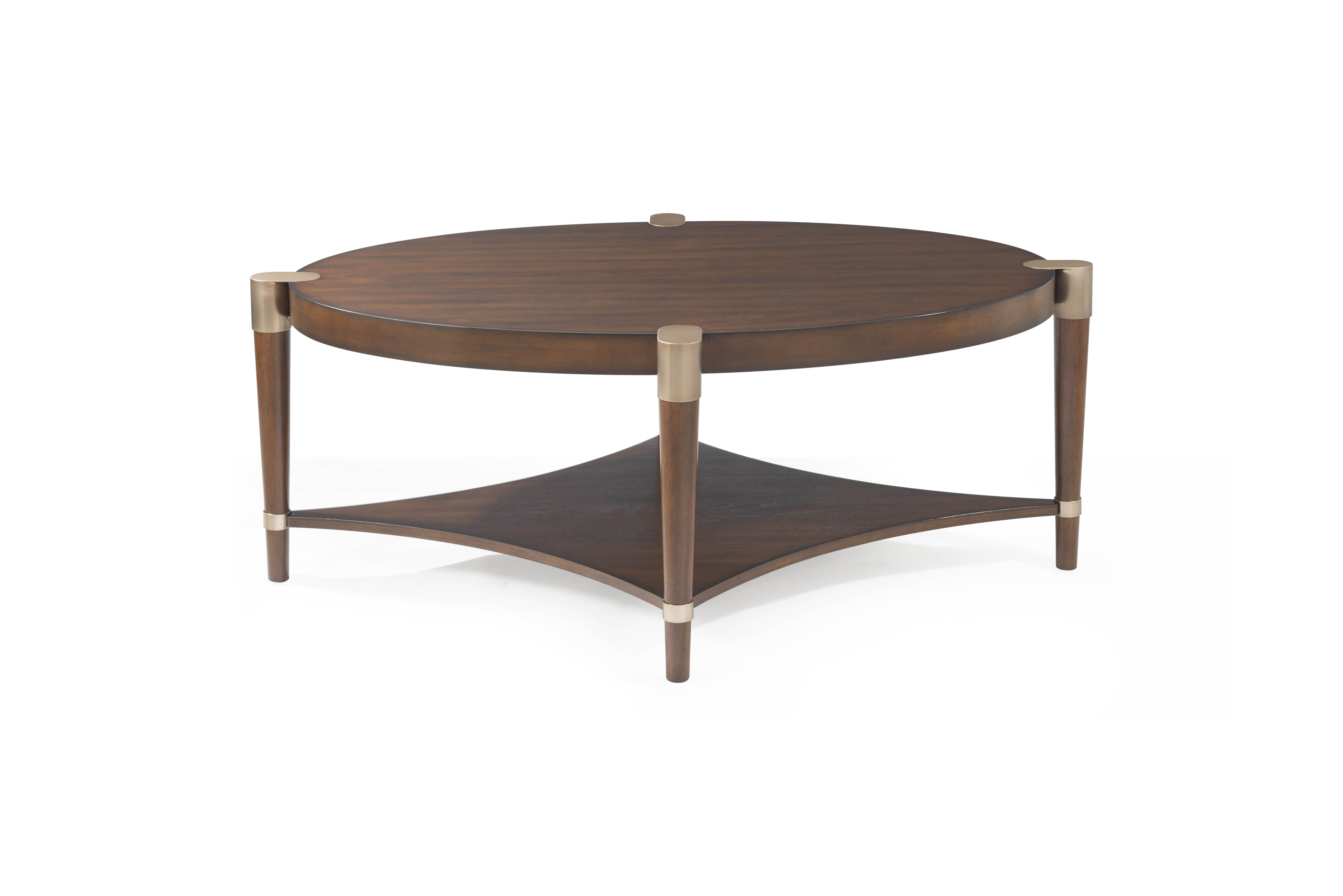 Super Bassett Mirror Cole Walnut Oval 3Pc Coffee Table Set The Pabps2019 Chair Design Images Pabps2019Com