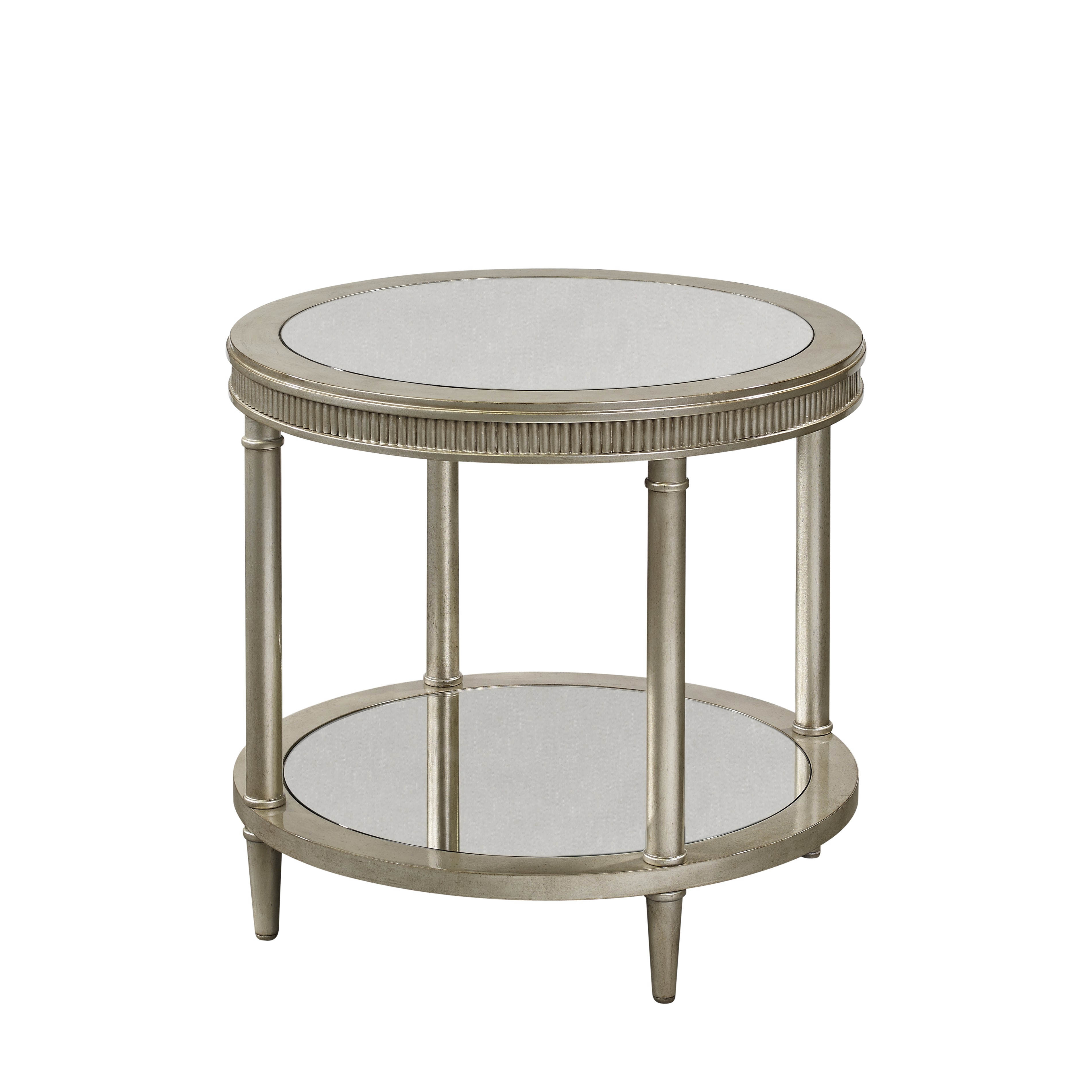 Bett Mirror Vanesta Antique Silver Round End Table Click To Enlarge
