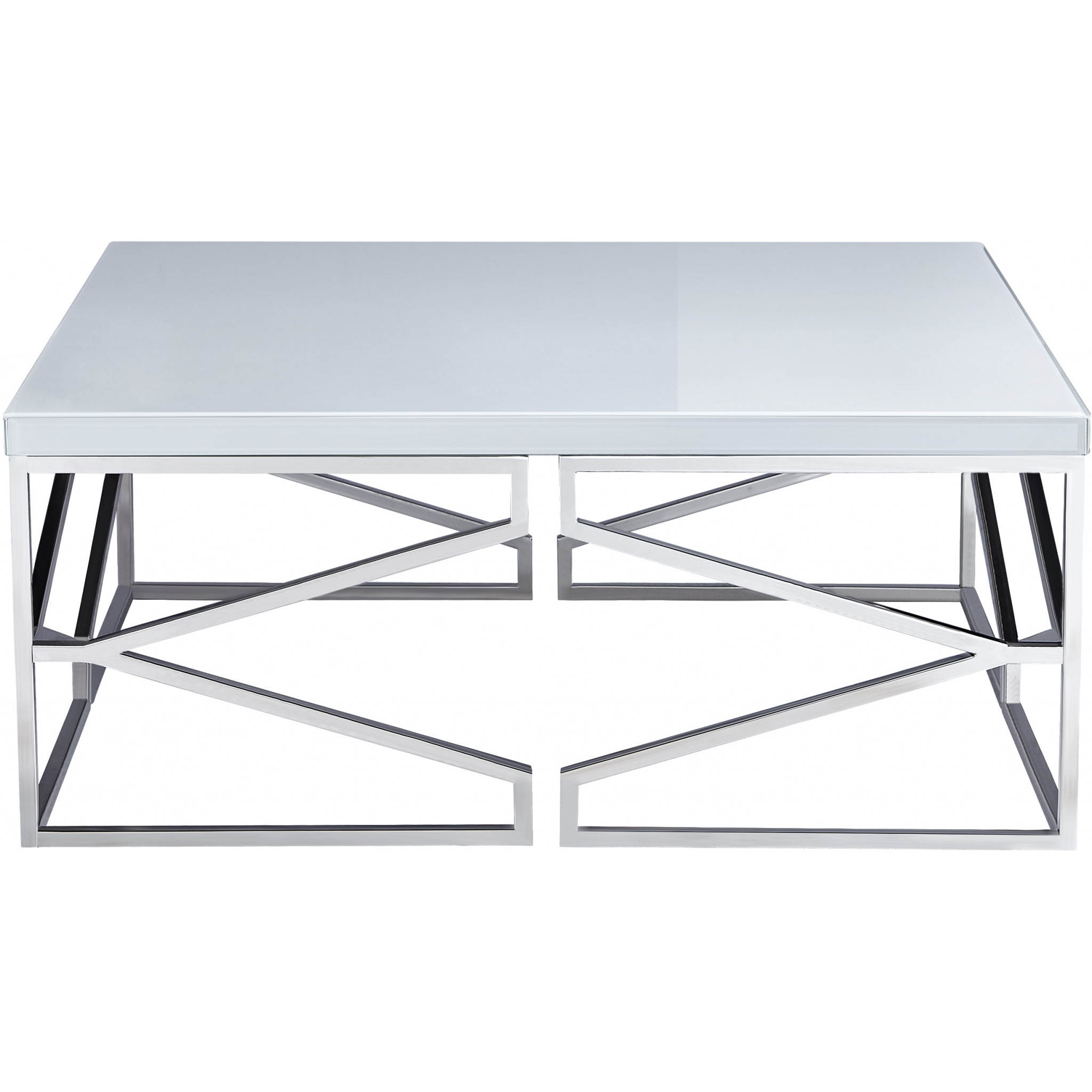 Bassett Mirror Company Gish White 3pc Coffee Table Set With Square