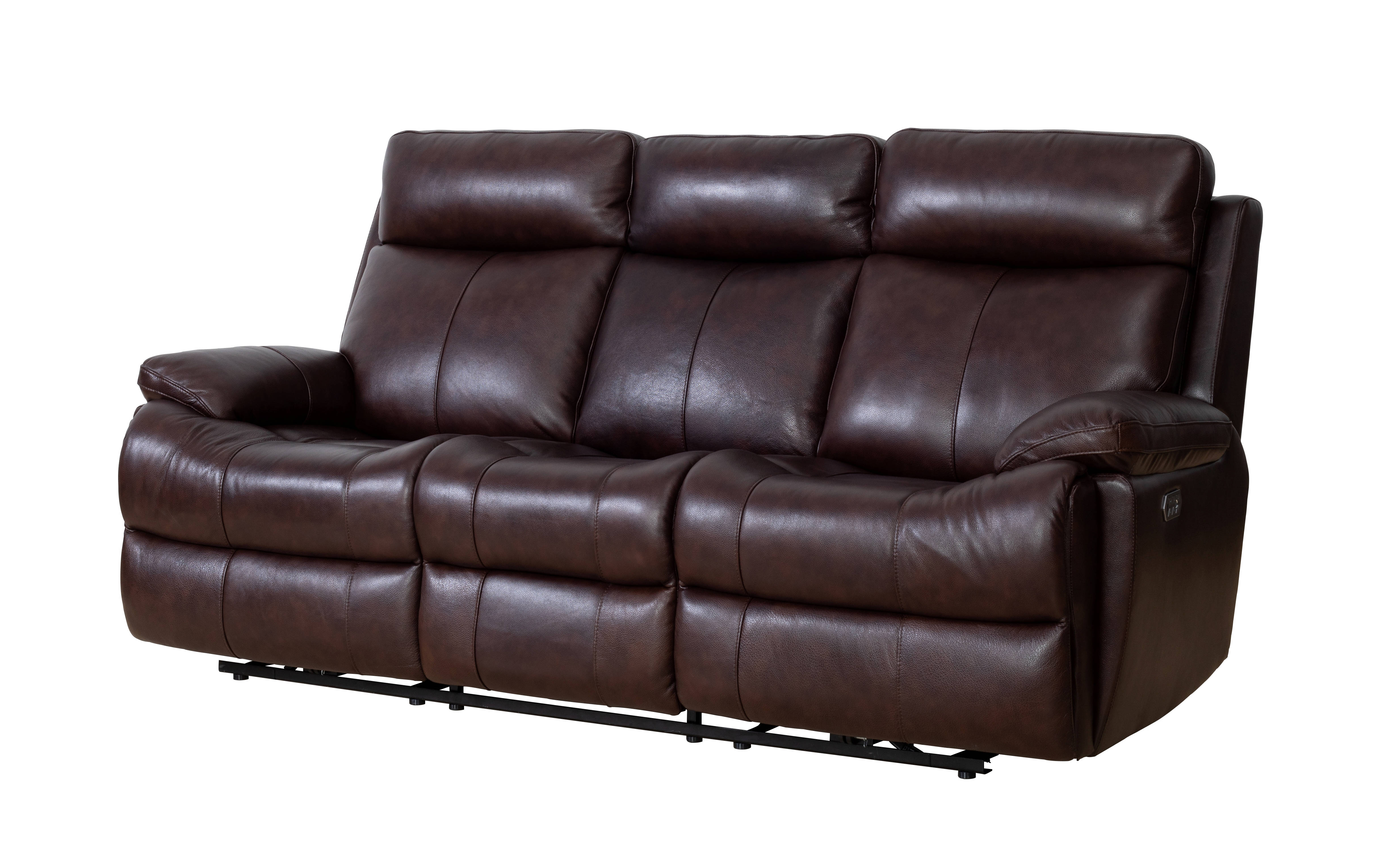 Barcalounger Bryce Ryegate Fudge Power Reclining Sofa With