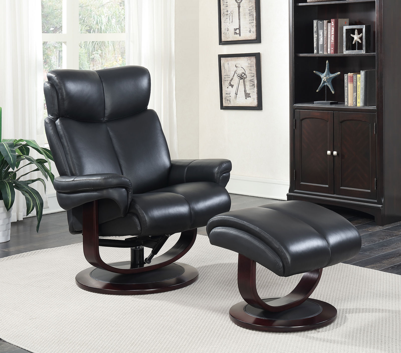 Incredible Barcalounger Brynn Hilton Black Pedestal Recliner And Andrewgaddart Wooden Chair Designs For Living Room Andrewgaddartcom