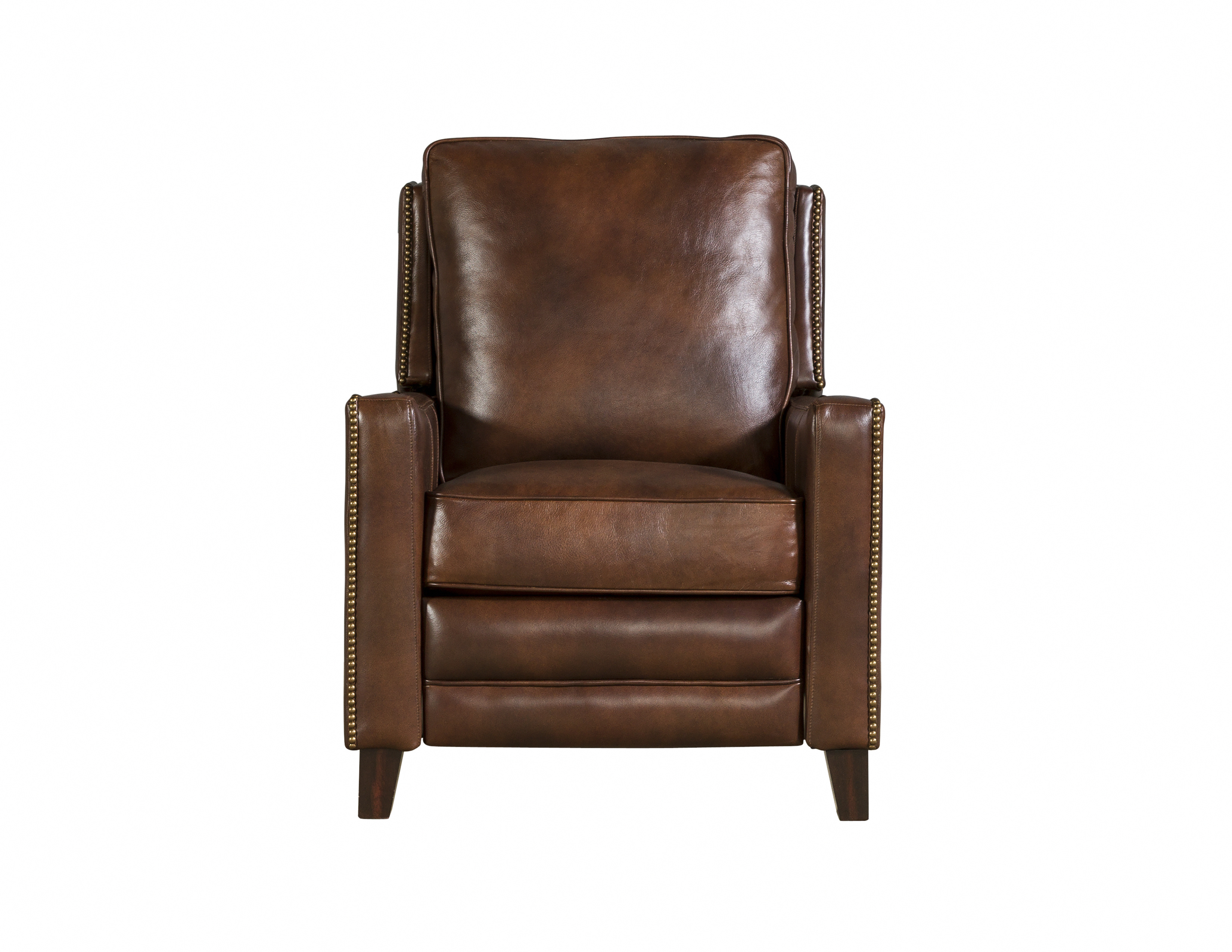 Lennon Traditional Worthington Cognac Leather Recliner The