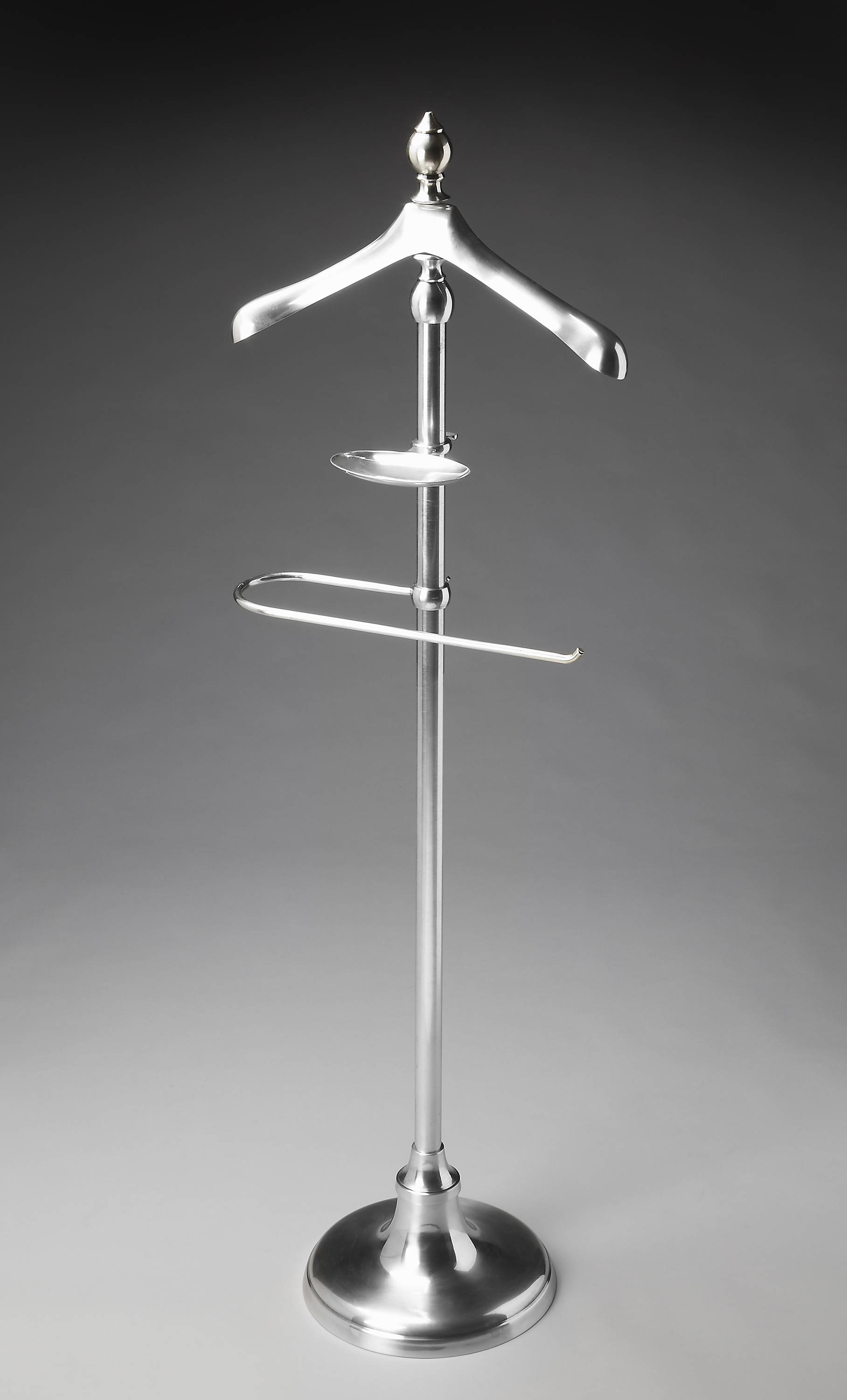 Metalworks Transitional Silver Brass Valet Stand The