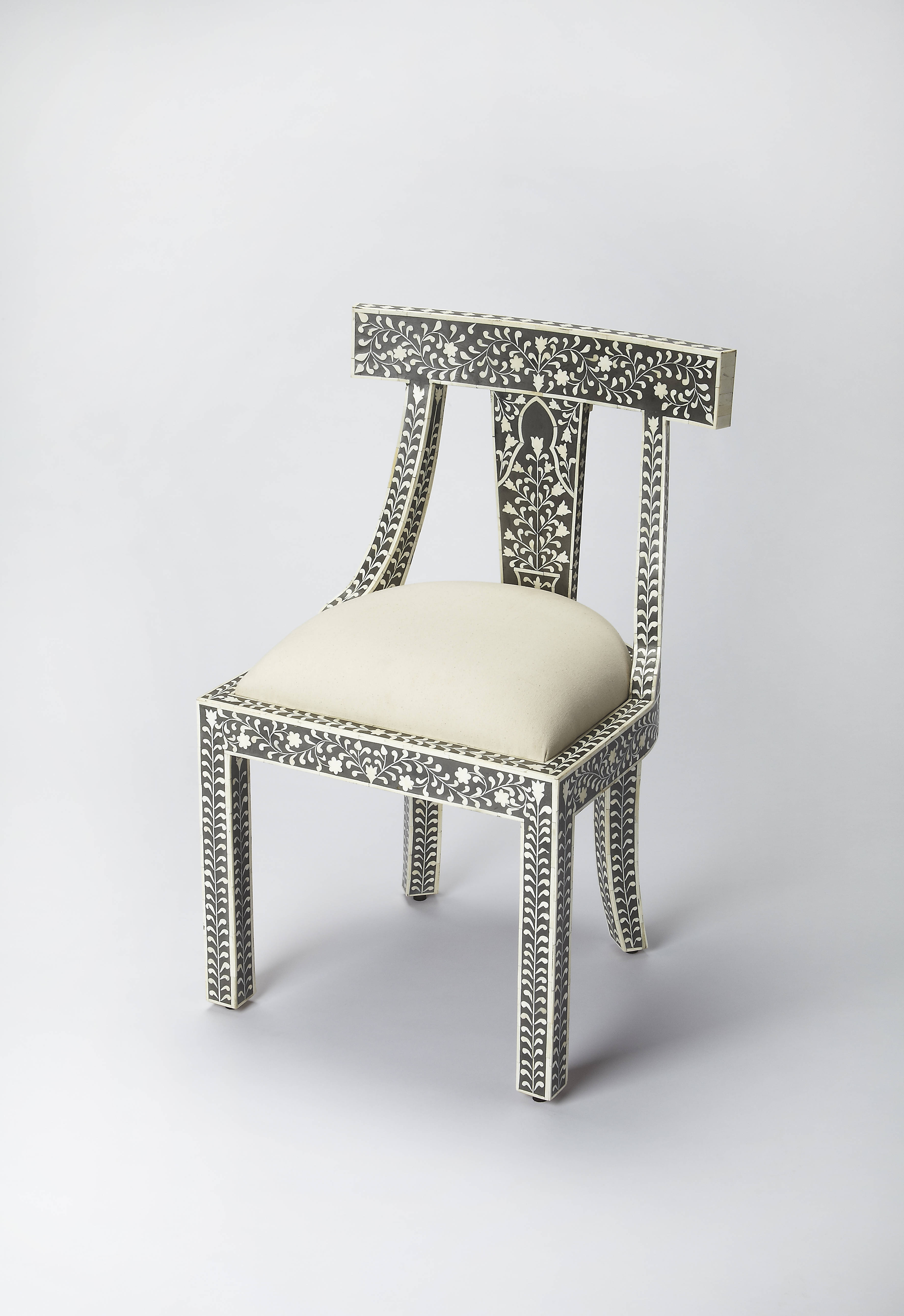 Butler Specialty Bone Inlay Black Accent Chair