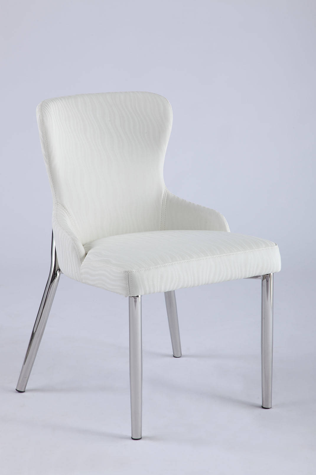 2 Chintaly Imports Evelyn Wing Back Side Polished Chairs