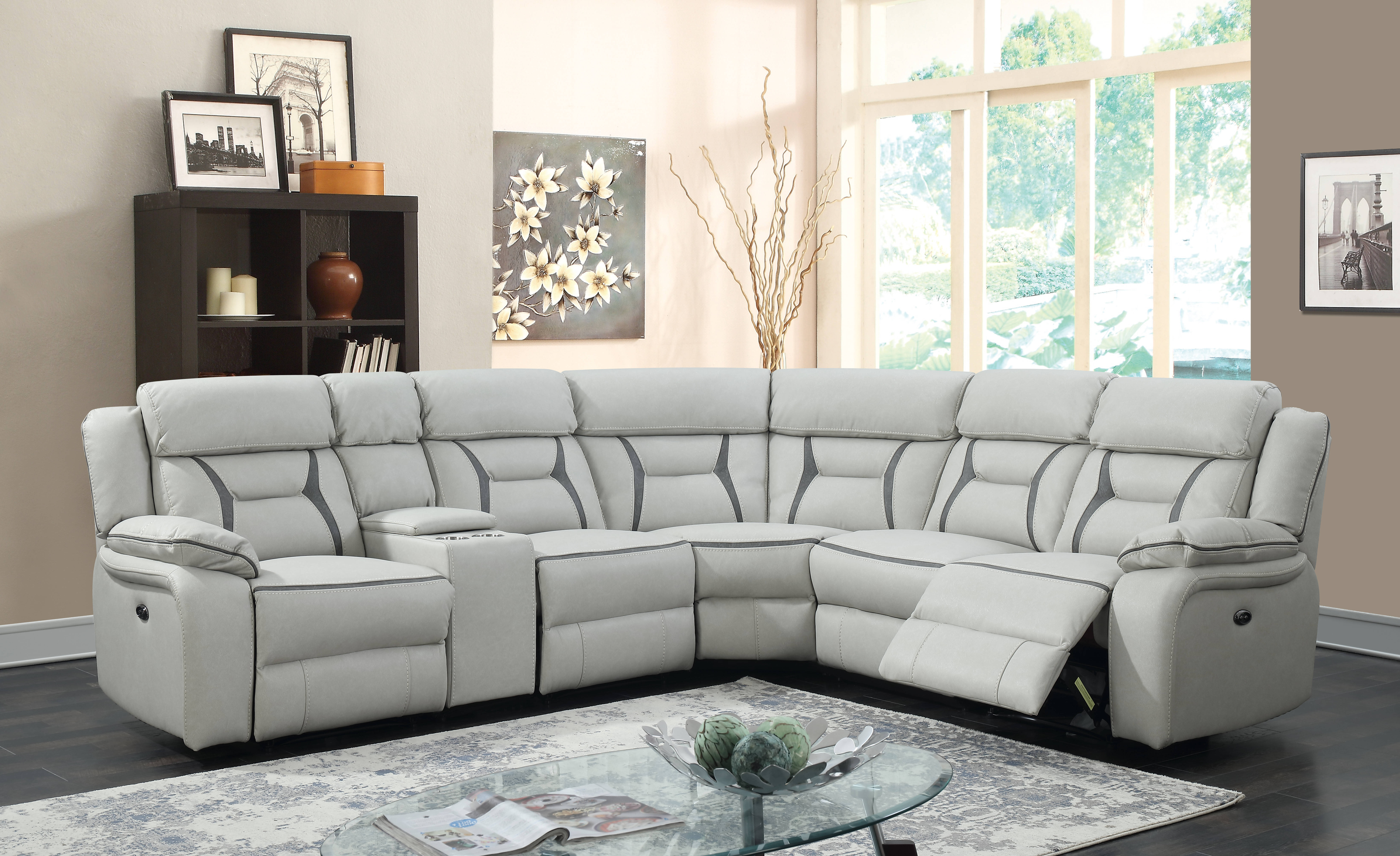 Chintaly Imports Louisville 6pc Sectional The Classy Home