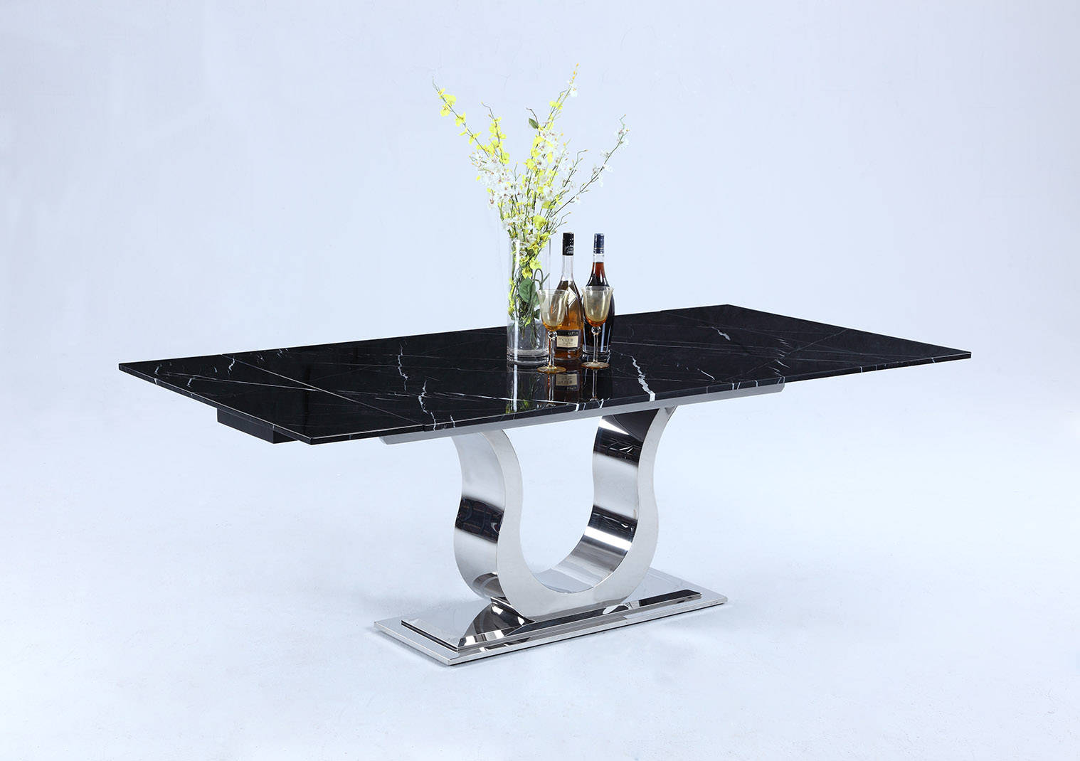 Chintaly Imports Nadia Black Dining Table The Classy Home