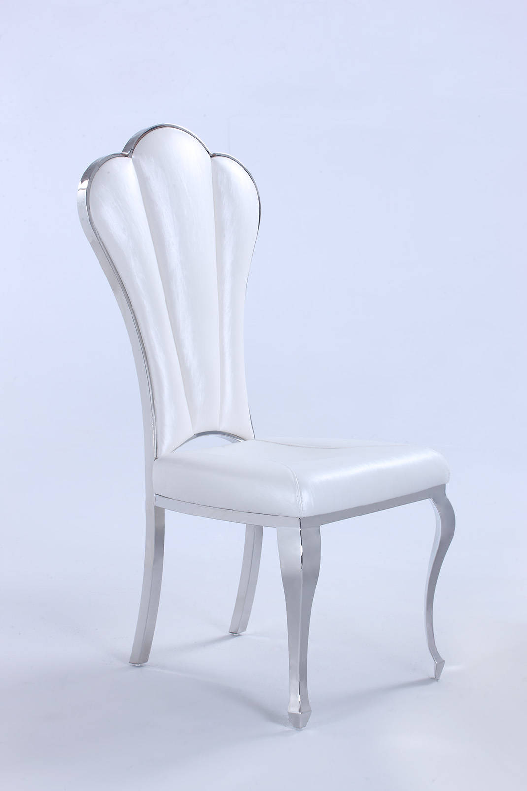 2 Chintaly Imports Raegan Shiny White Side Chairs The