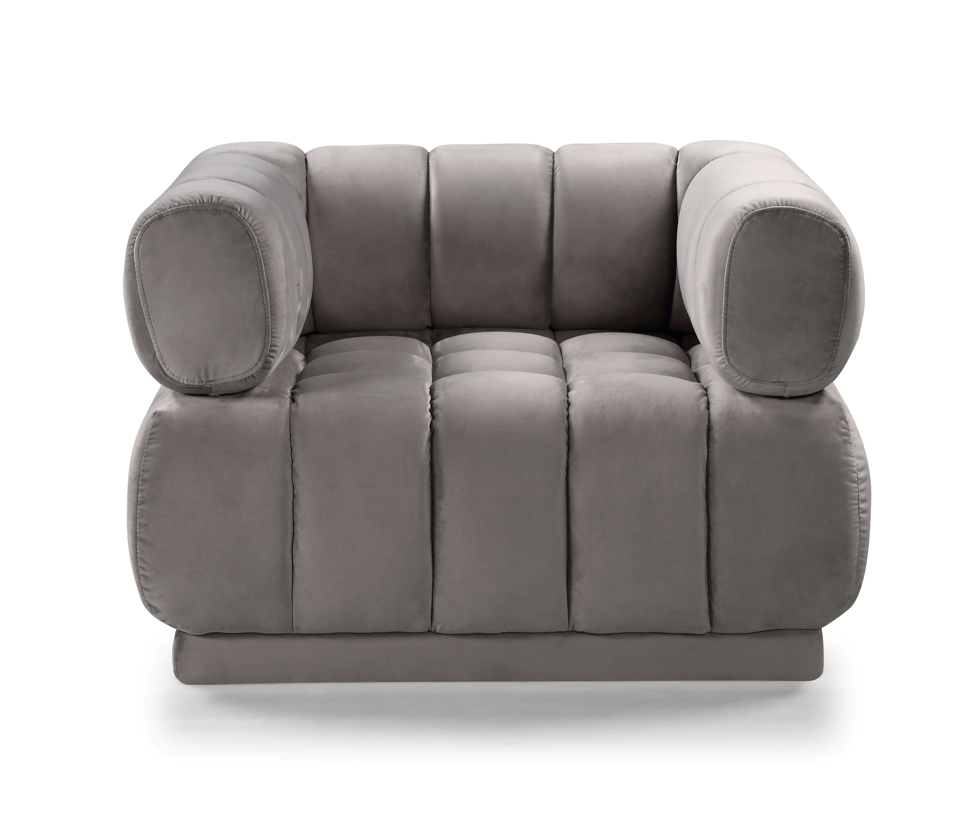 Awesome Chic Home Quebec Grey Velvet Tufted Seat Club Chair Creativecarmelina Interior Chair Design Creativecarmelinacom