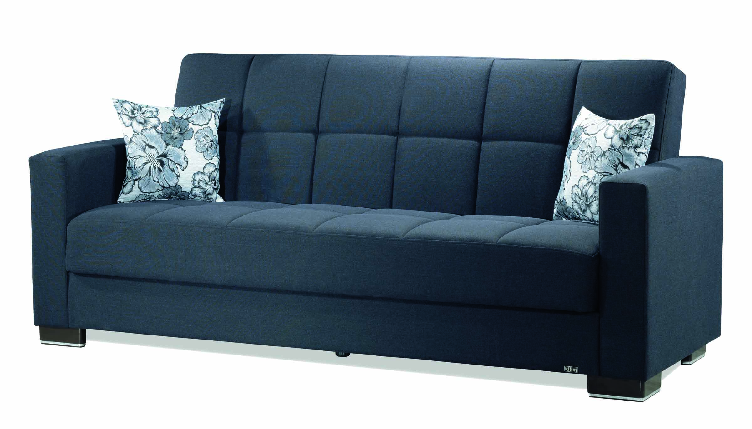 Casamode Armada Denim Dark Blue Fabric Sofa | The Classy Home