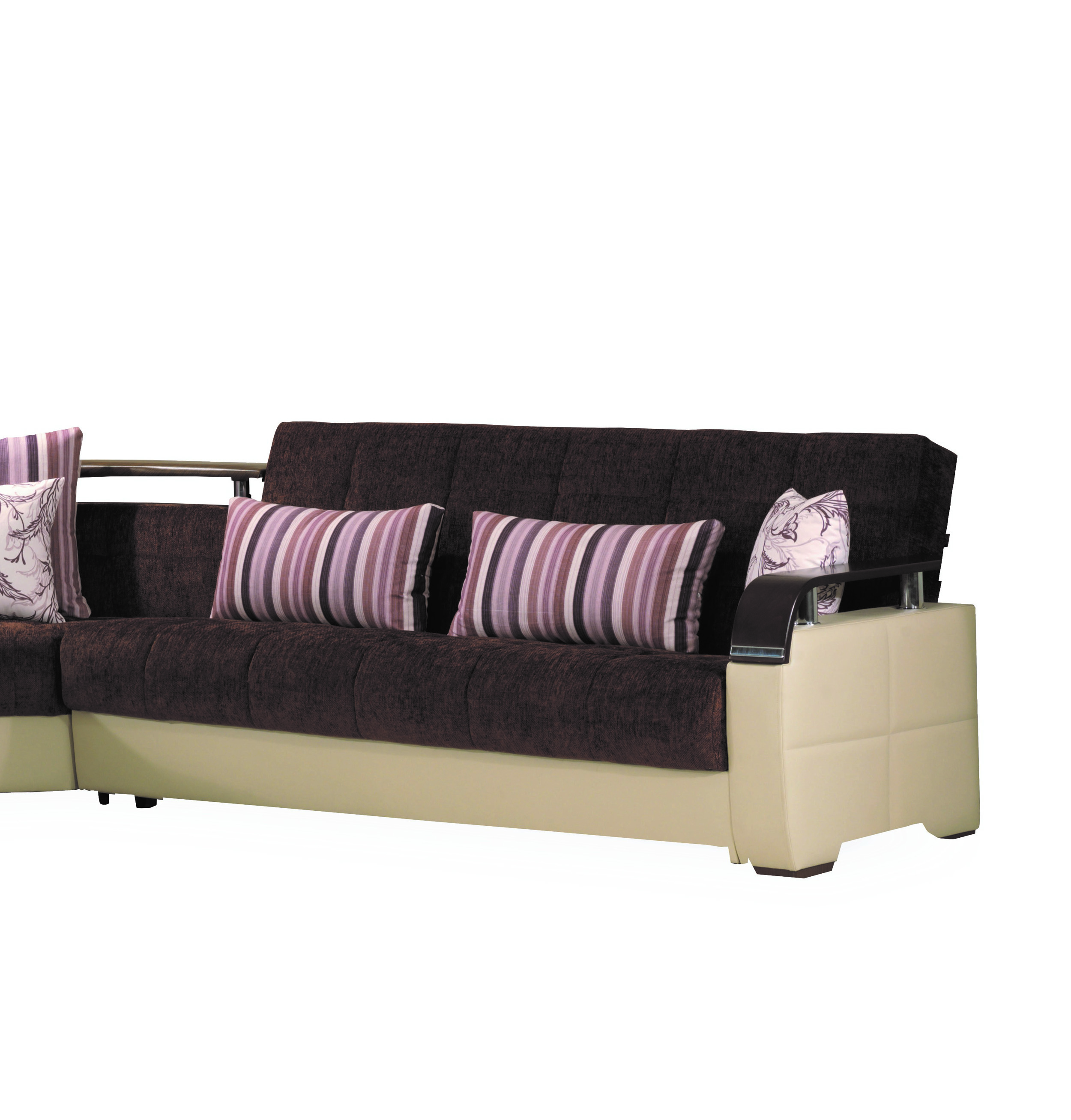 Casamode Karma Brown Cream Sofabed Click To Enlarge