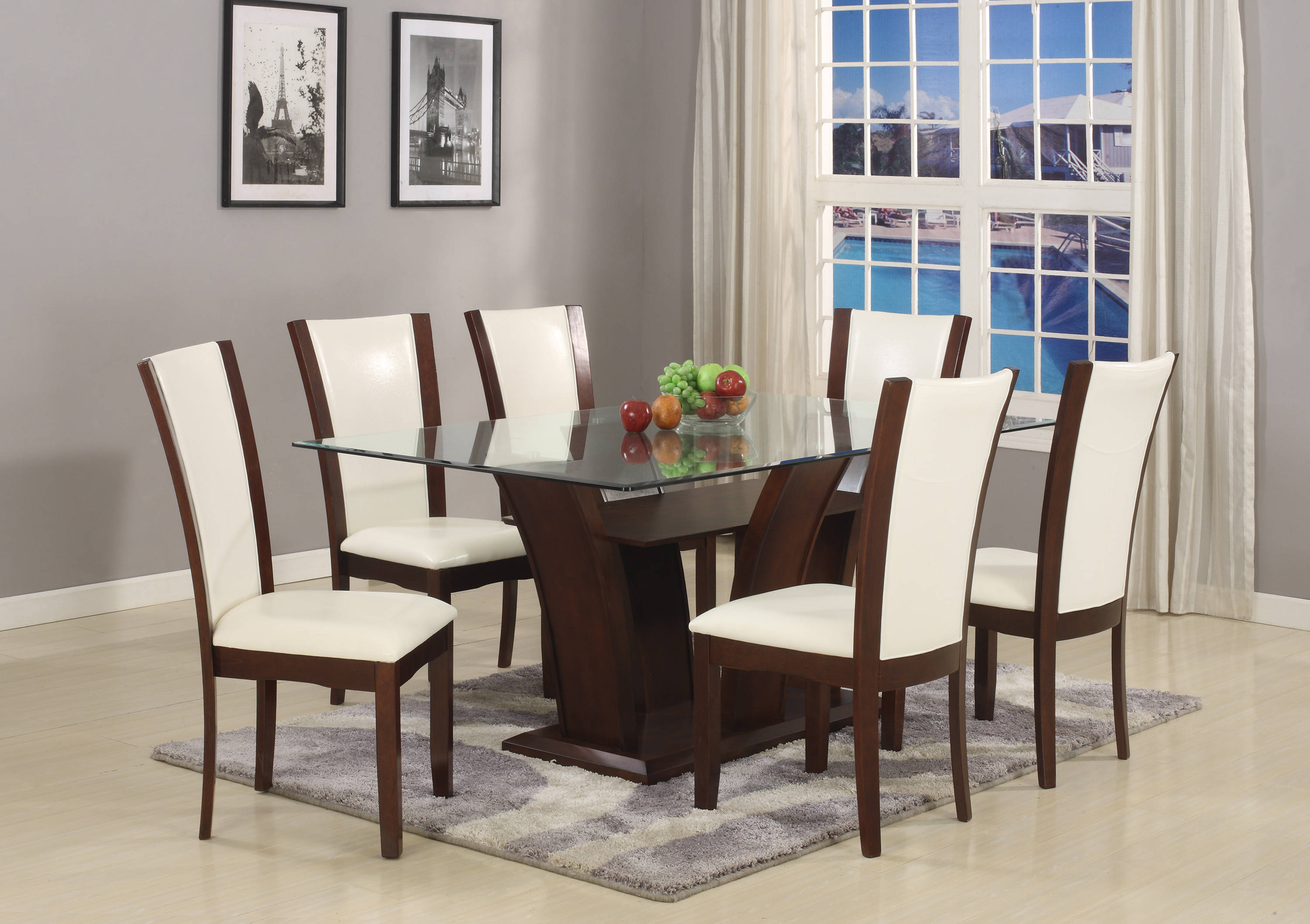 Crown Mark Camelia Espresso 7pc Dining Room Set