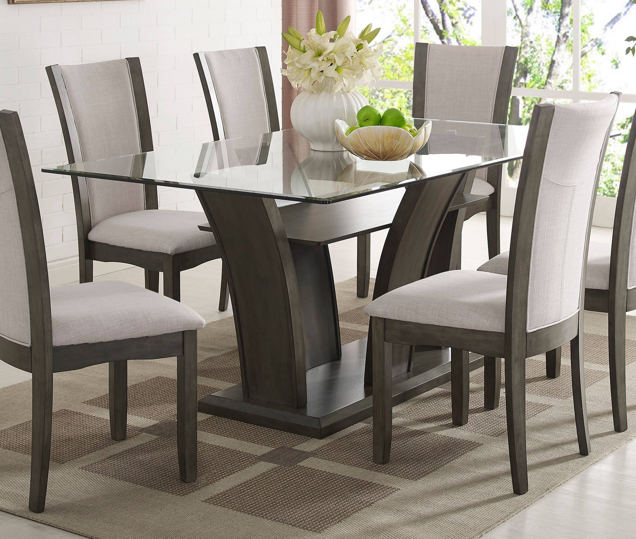 Crown Mark Camelia Grey Rectangle Dining Table