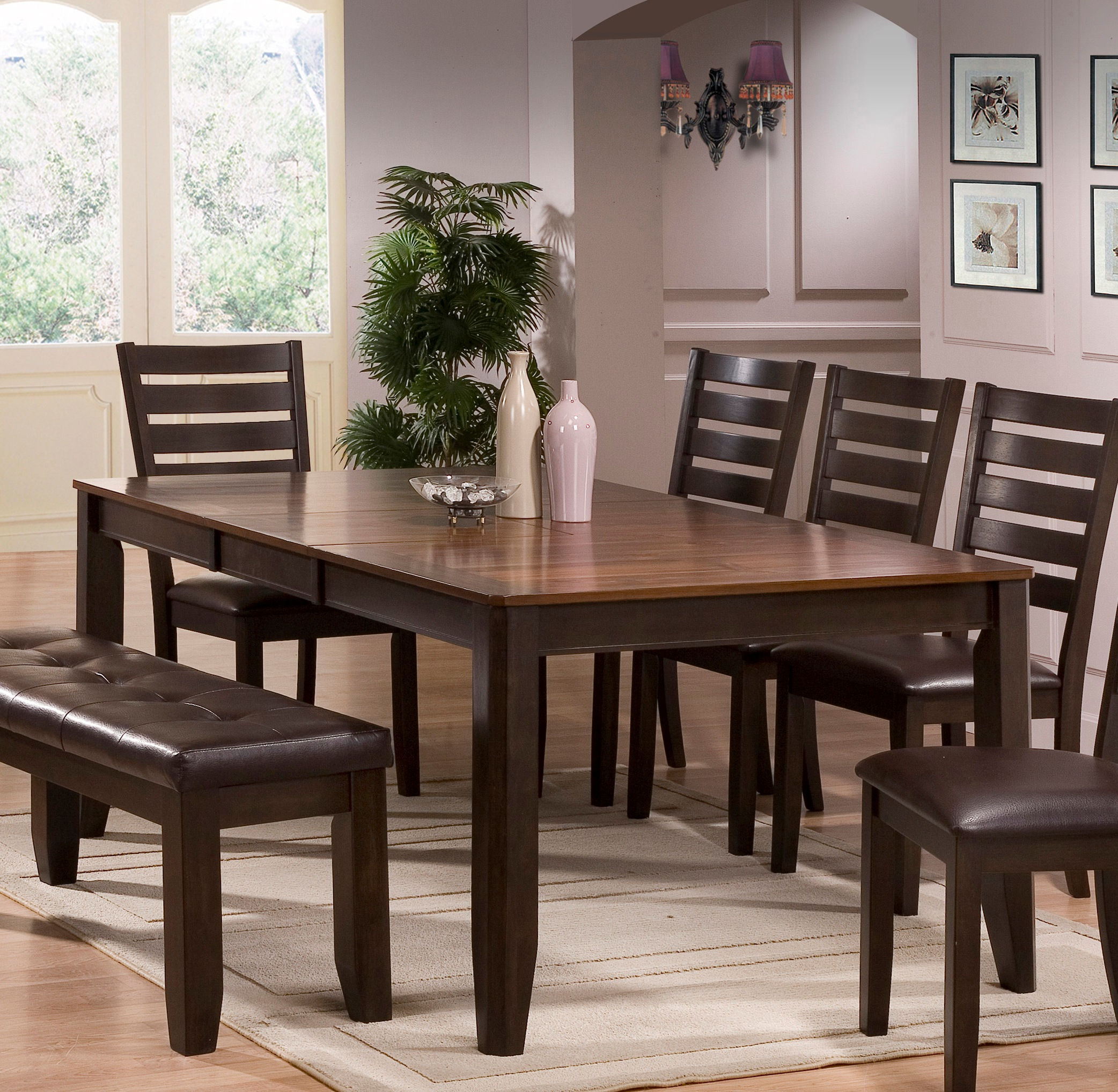 New hot deal deal of day daily deal discontinued crown mark elliot chocolate brown dining table
