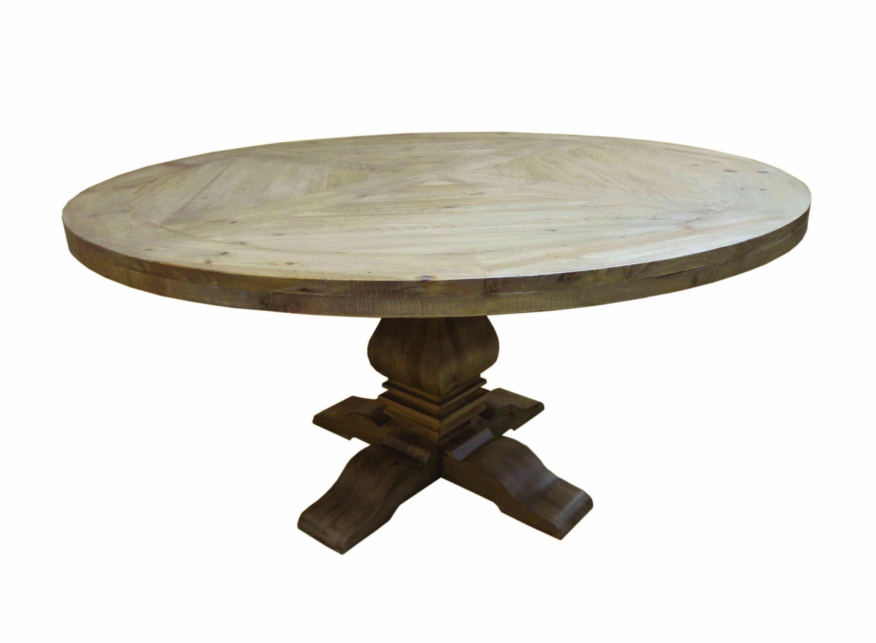 Coaster Furniture Florence Rustic Smoke Round Dining Table