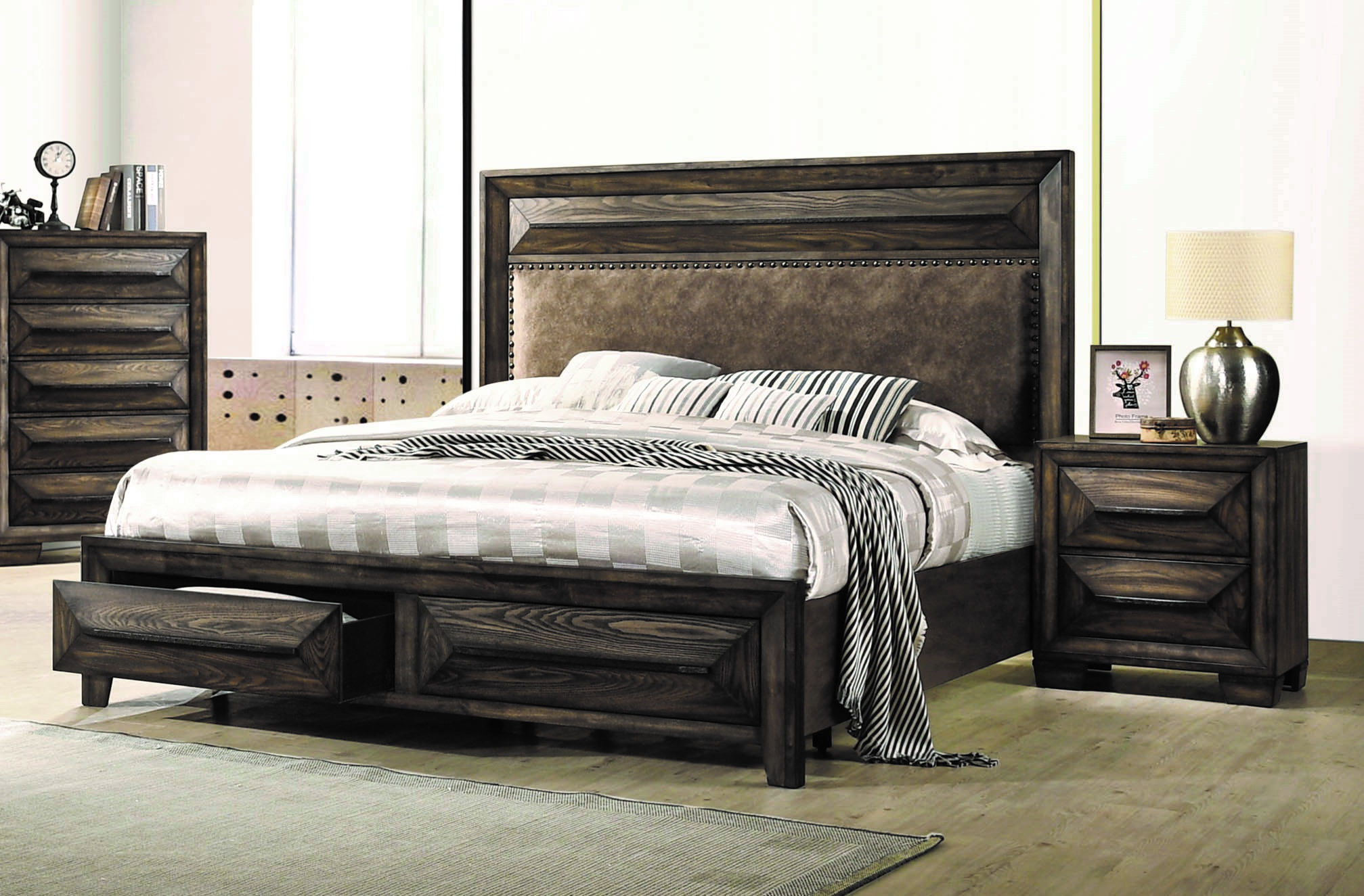 Coaster Furniture Preston Rustic Chestnut 2pc Bedroom Set