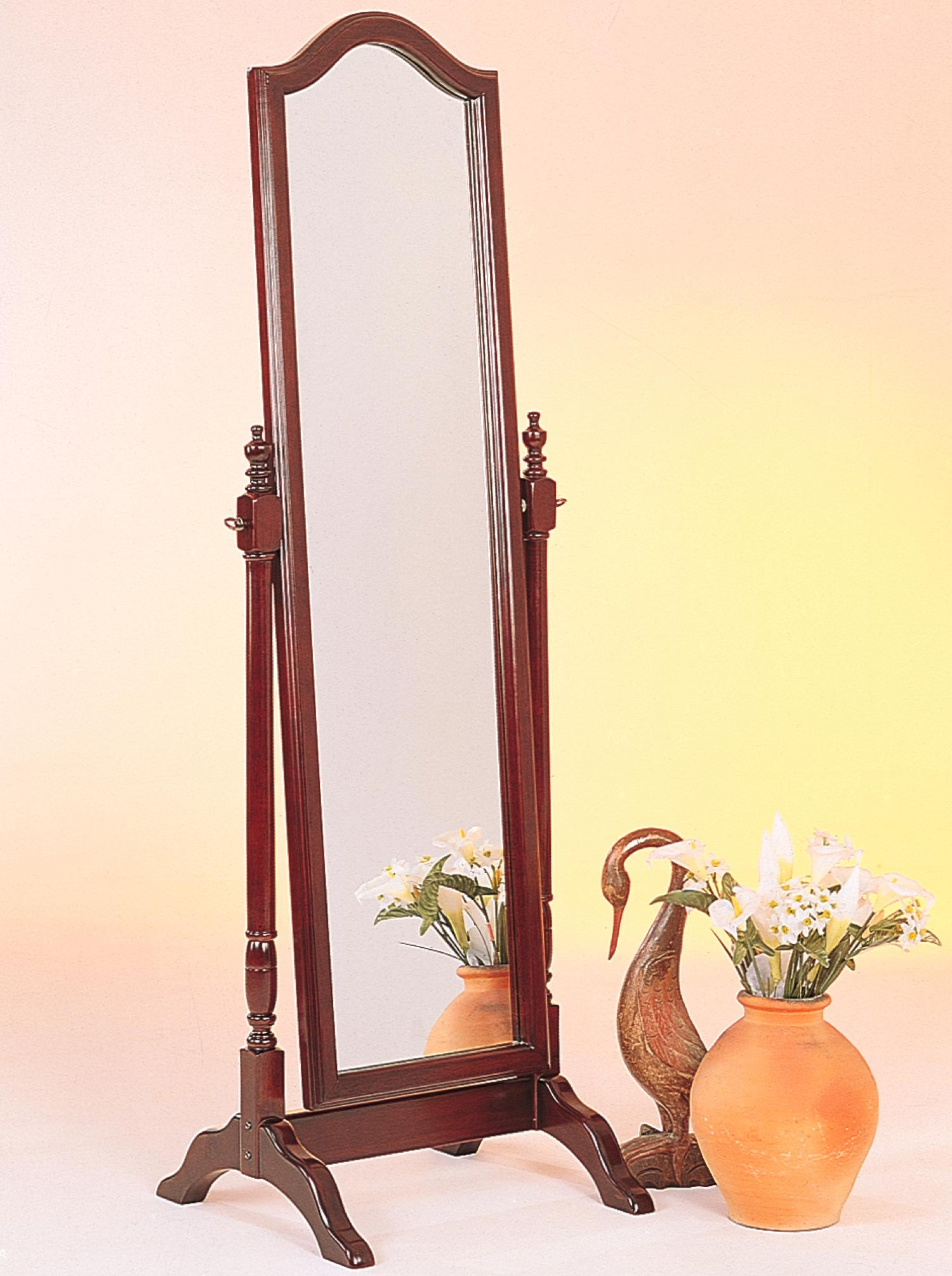Wooden Mirror Stand Designs : Coaster furniture merlot wood cheval mirror the classy home