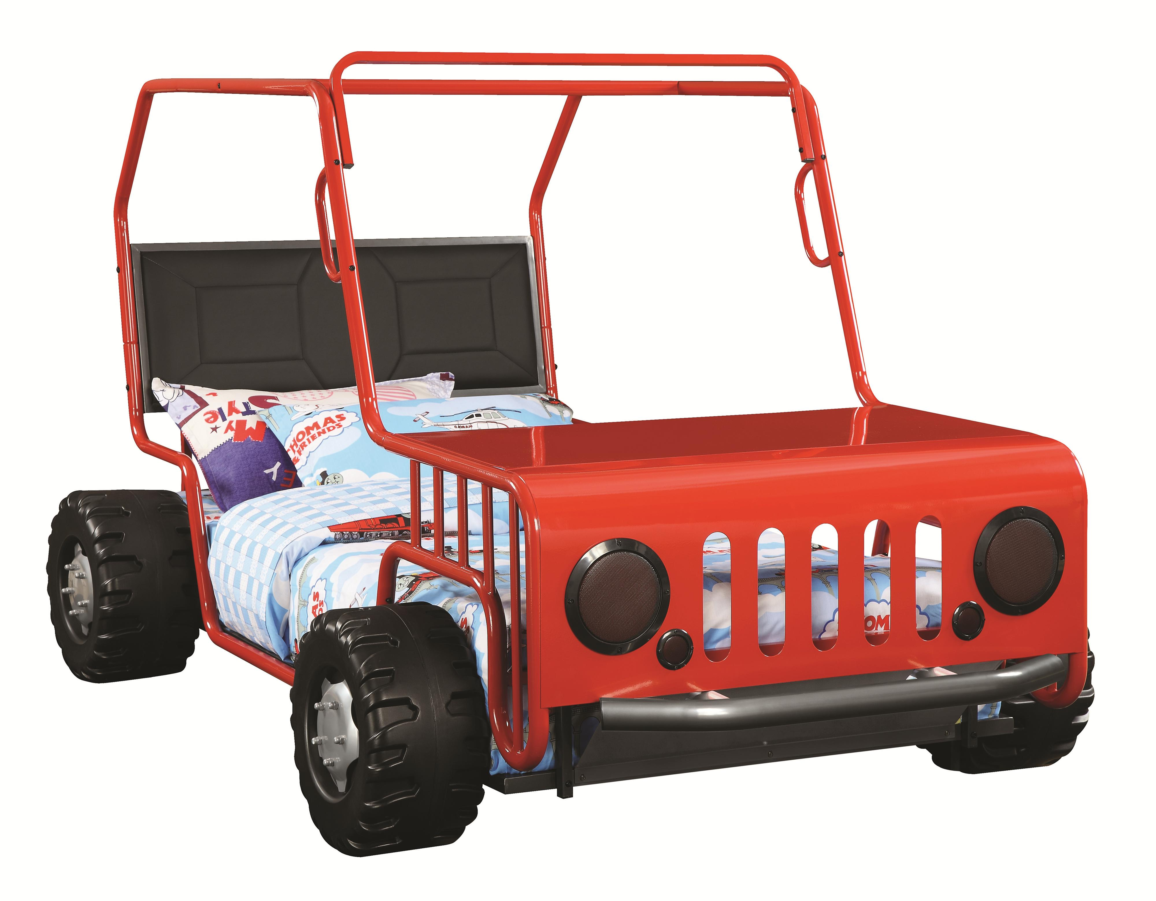 Coaster Furniture Casey Red Jeep Twin Bed Click To Enlarge