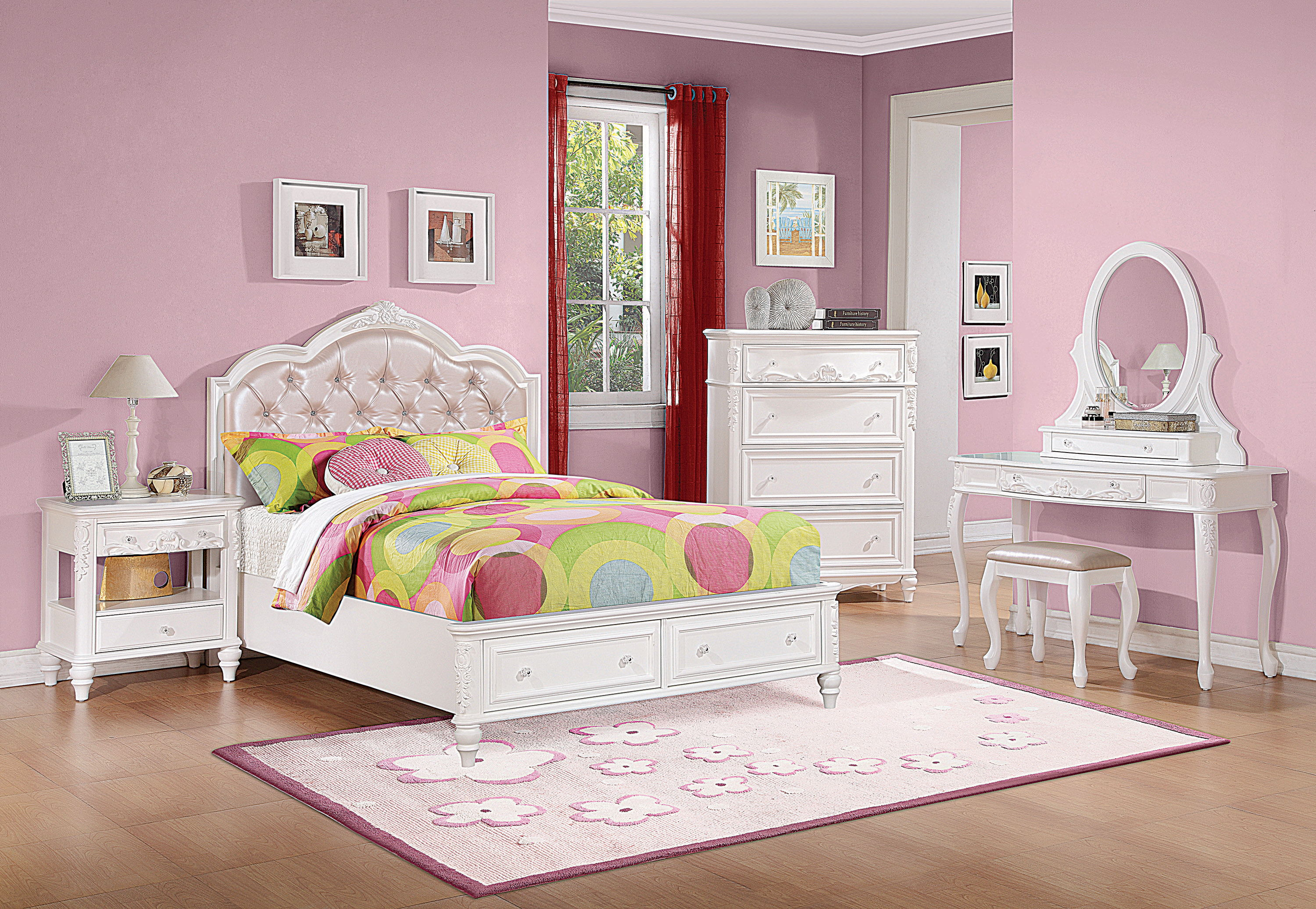 Coaster Furniture Caroline 3pc Kids Bedroom Set With Twin Storage Bed The Classy Home