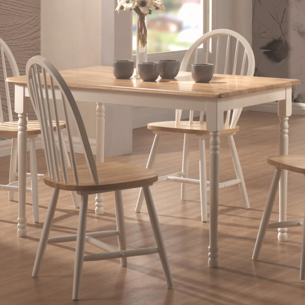 Coaster Furniture Dinettes Natural White Wood Dining Table