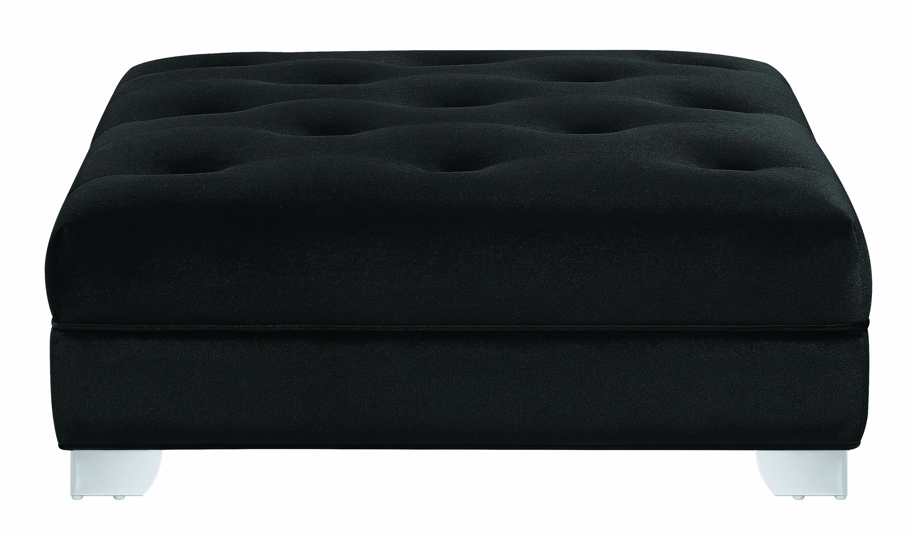 Remarkable Coaster Furniture Chaviano Black Ottoman Alphanode Cool Chair Designs And Ideas Alphanodeonline