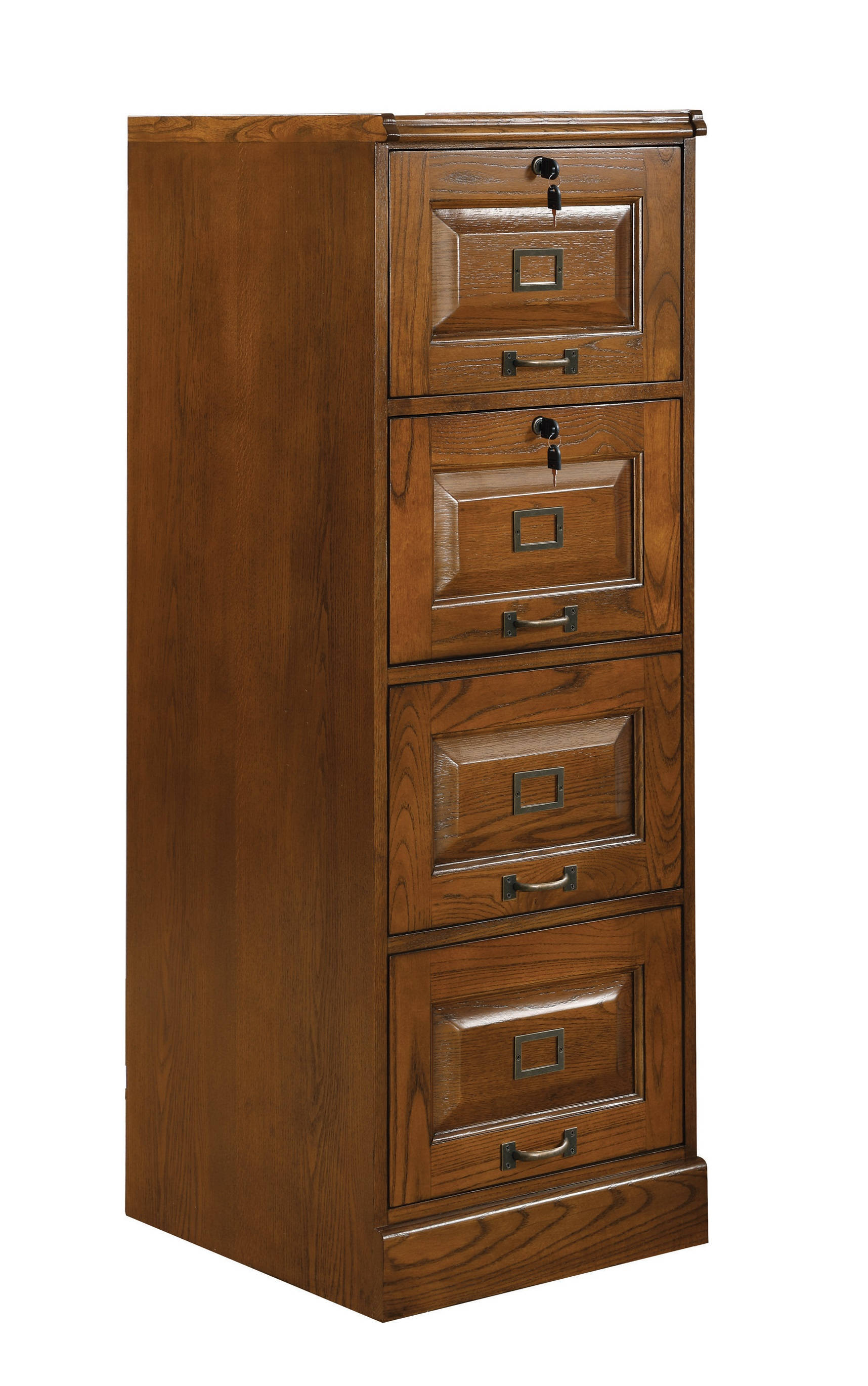 Coaster Furniture Warm Honey Four Drawers File Cabinet The