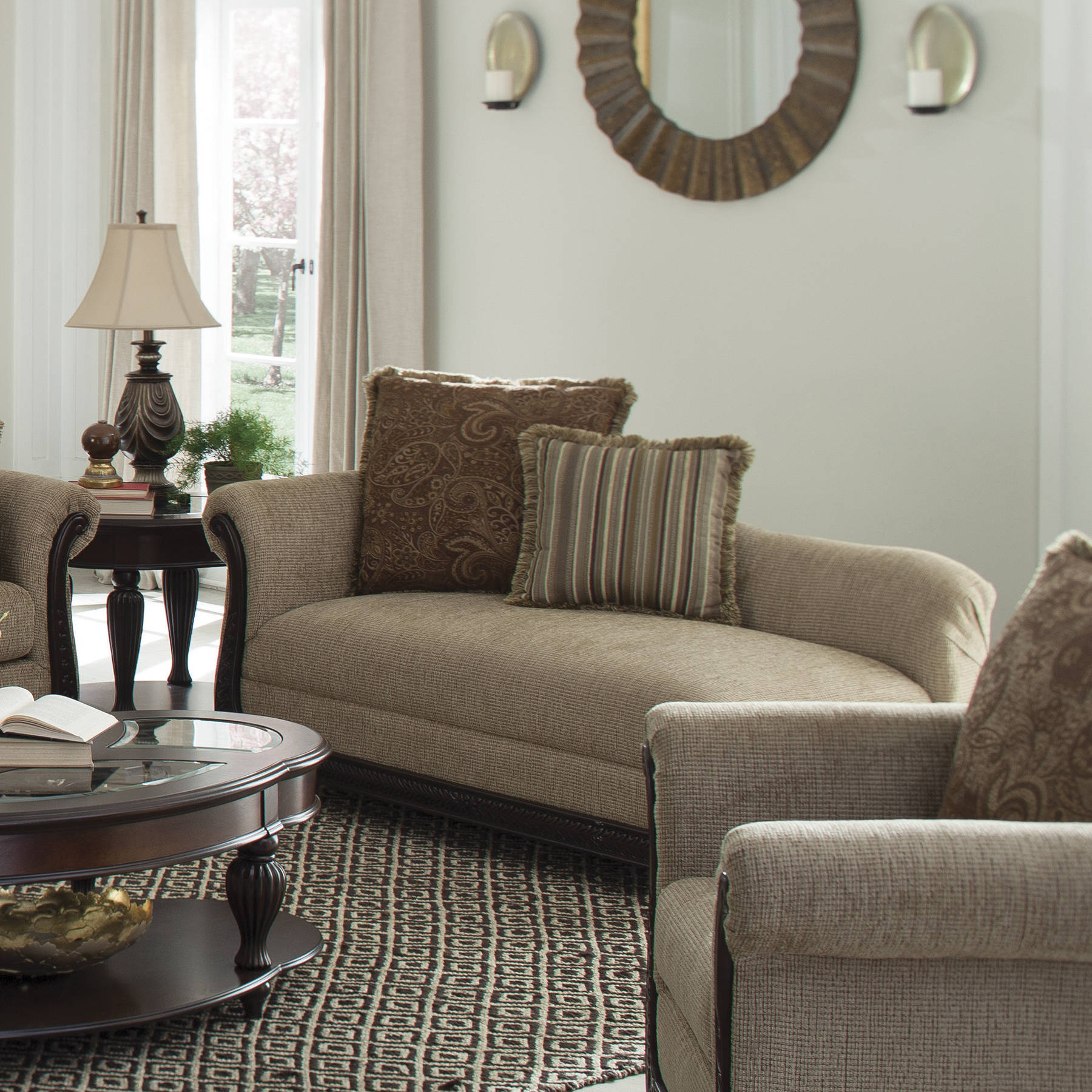 Coaster furniture beasley brown chaise the classy home for Accent traditional chaise by coaster