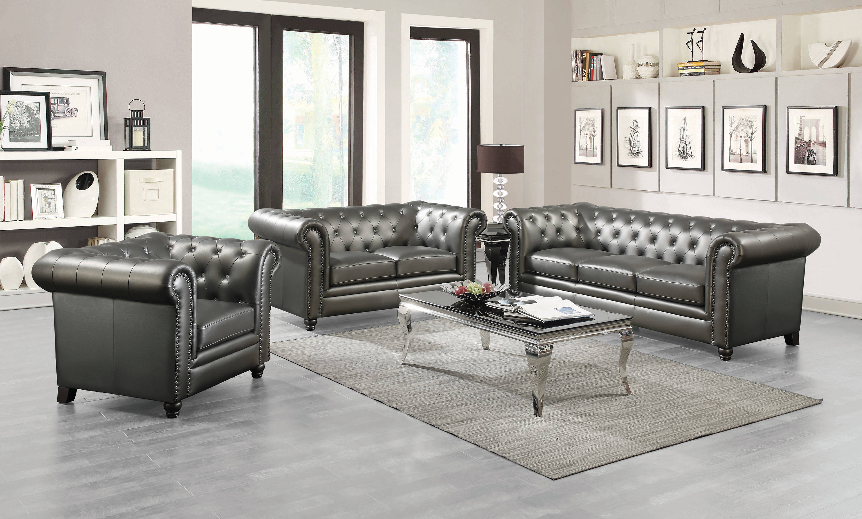 Coaster Furniture Roy 3pc Living Room Set The Classy Home