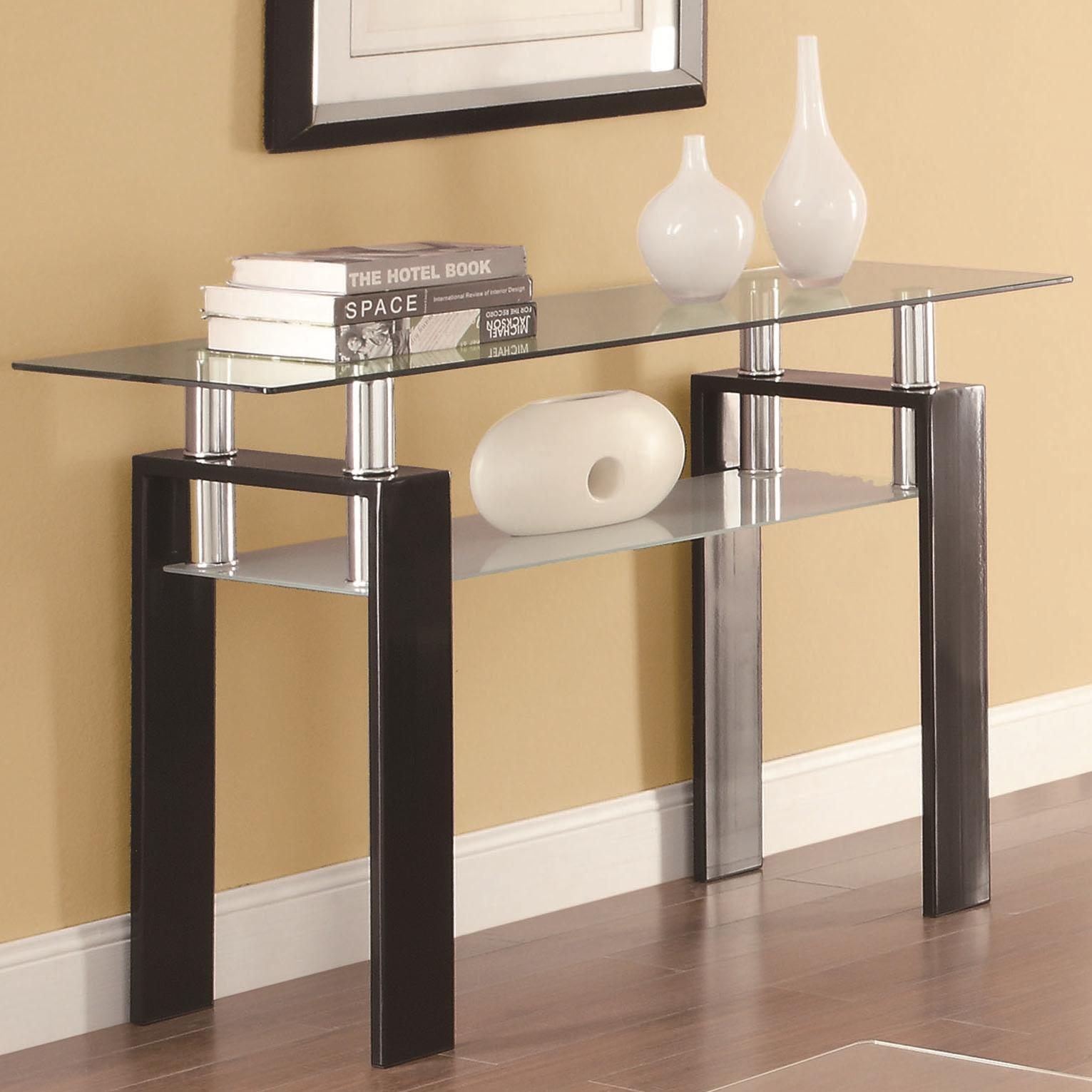 Coaster Furniture Black Metal Gl Sofa Table Click To Enlarge