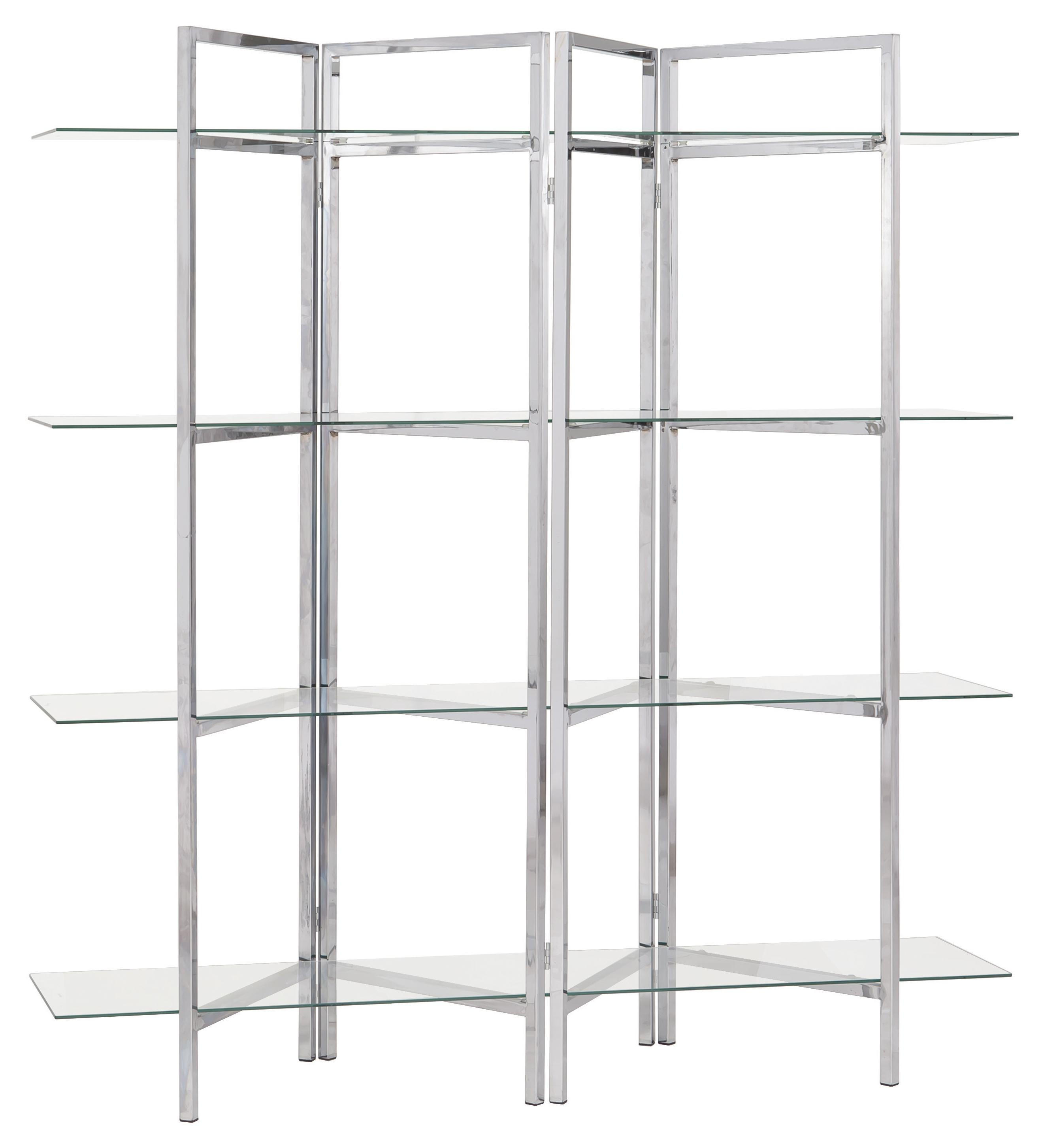 contemporary chrome glass metal bookcase the classy home. Black Bedroom Furniture Sets. Home Design Ideas
